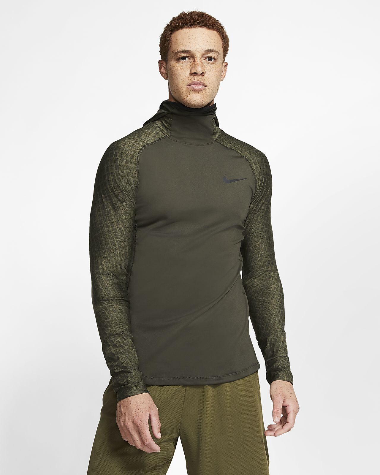 Nike Pro Therma langärmliges Trainings-Hoodie für Herren