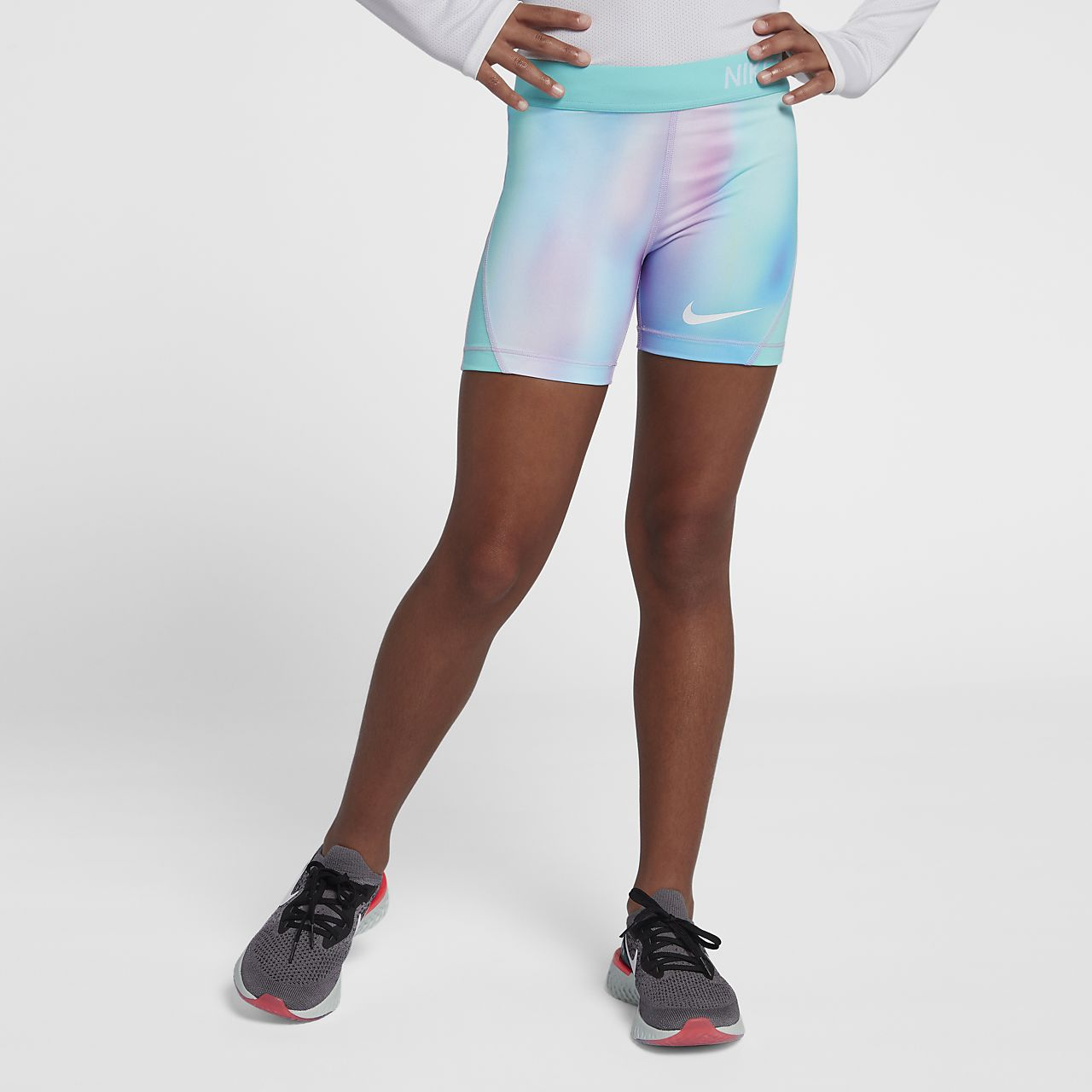 9d8a54cacfa3 Nike Pro Older Kids' (Girls') Printed Training Boyshorts. Nike.com AU