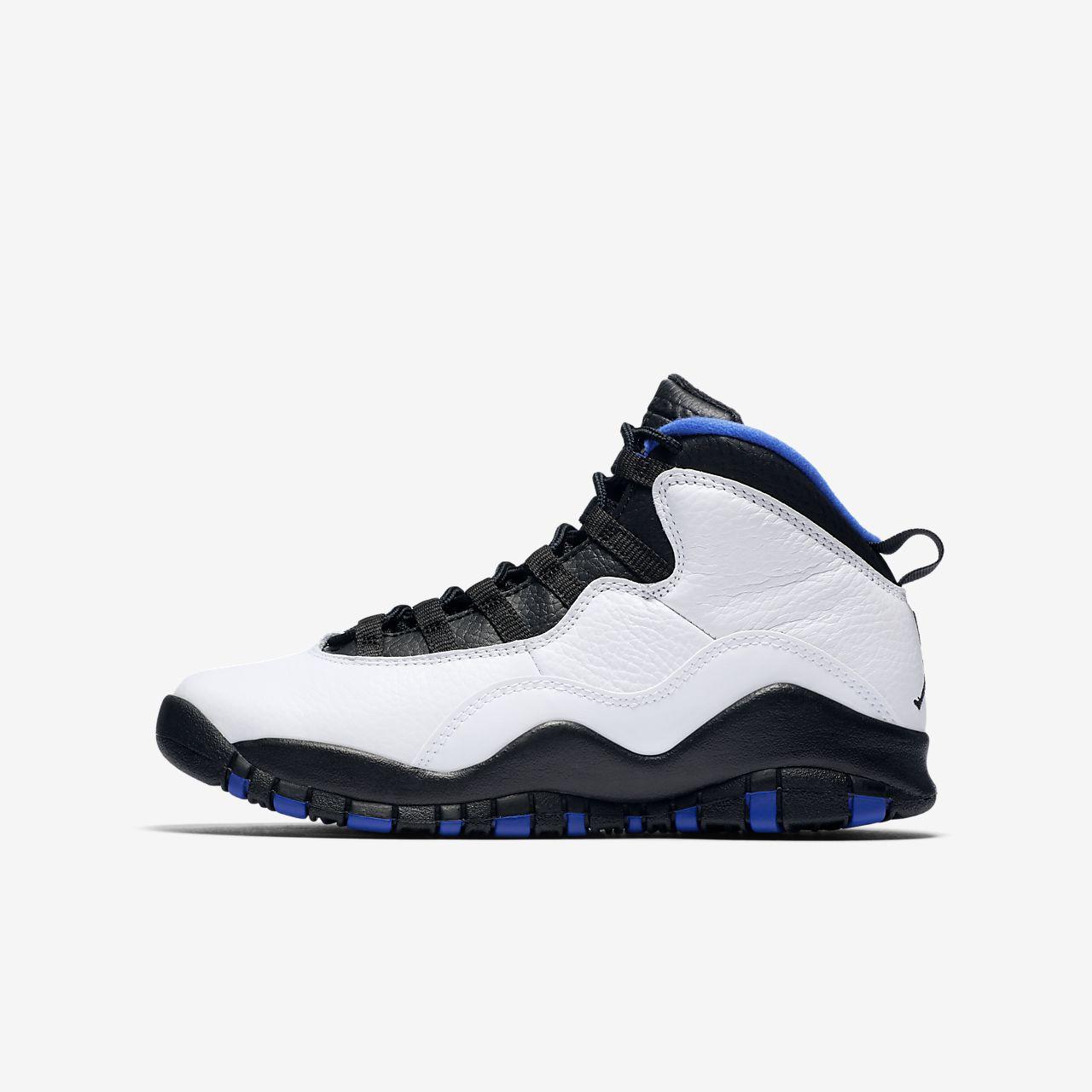 new product 7aef6 7b3b4 ... black white blue online b7a86 14340  sweden air jordan retro 10 3.5y 7y  big kids shoe b2605 dbce7