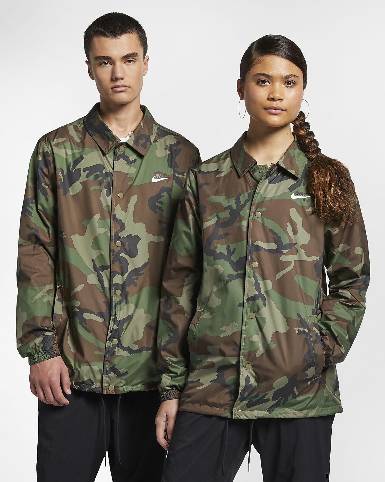 Skatejacka Nike SB med kamouflagemönster