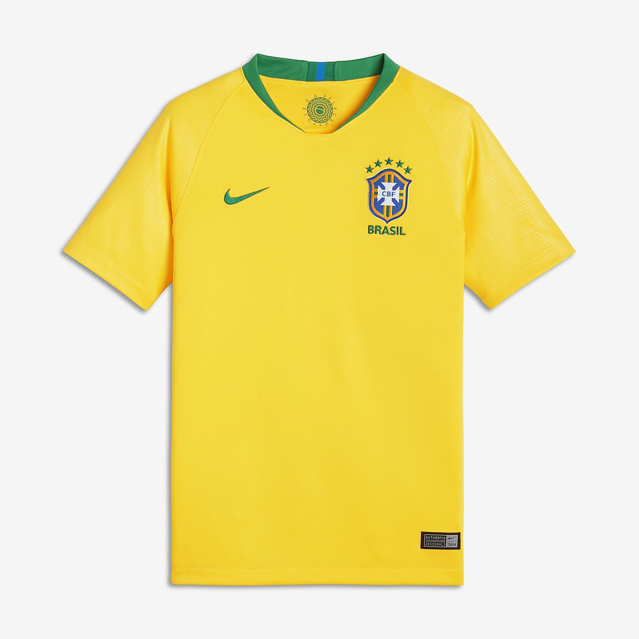 2018 Brasil CBF Stadium Home fotballdrakt for store barn