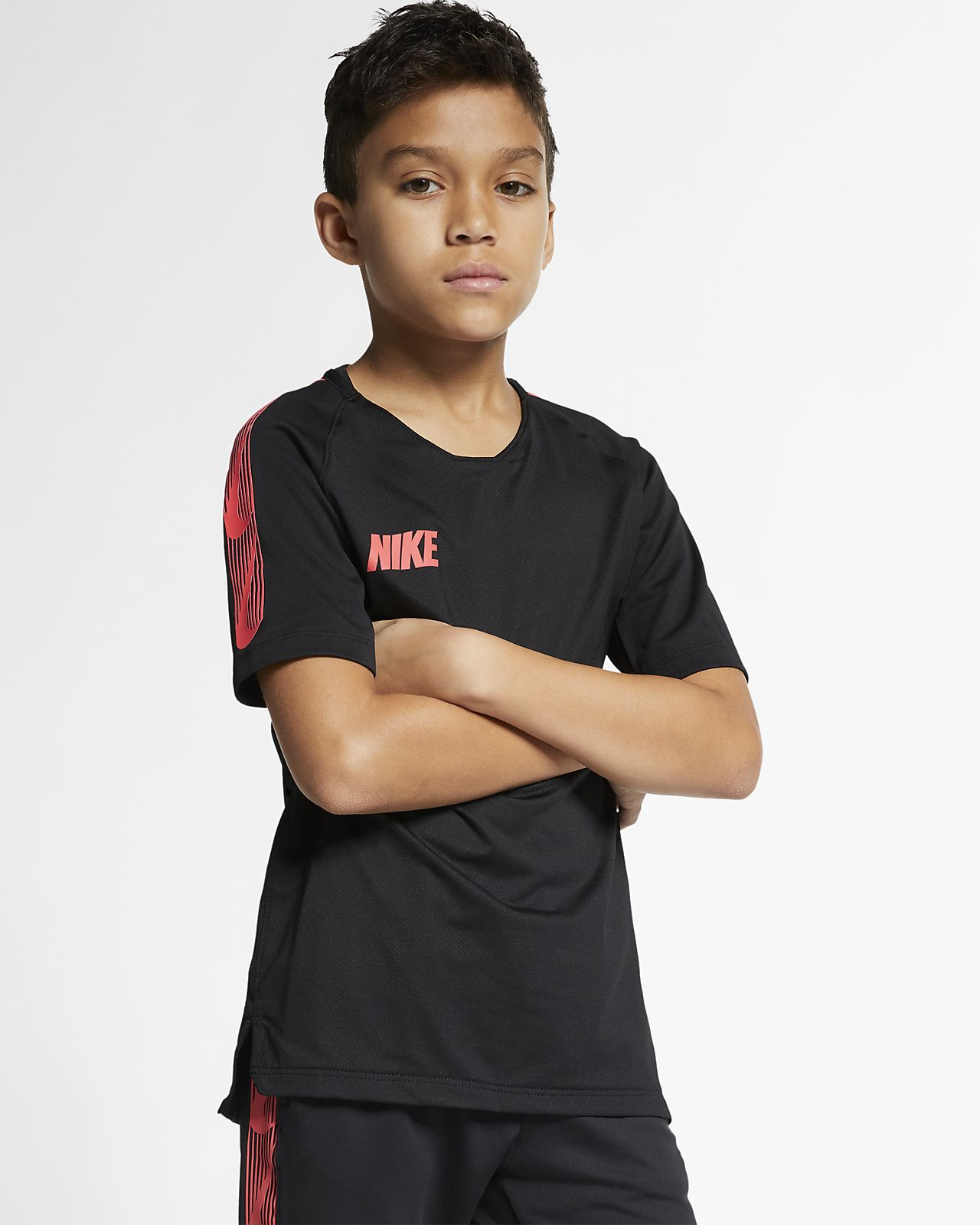 Nike Breathe Squad Older Kids' Short-Sleeve Football Top