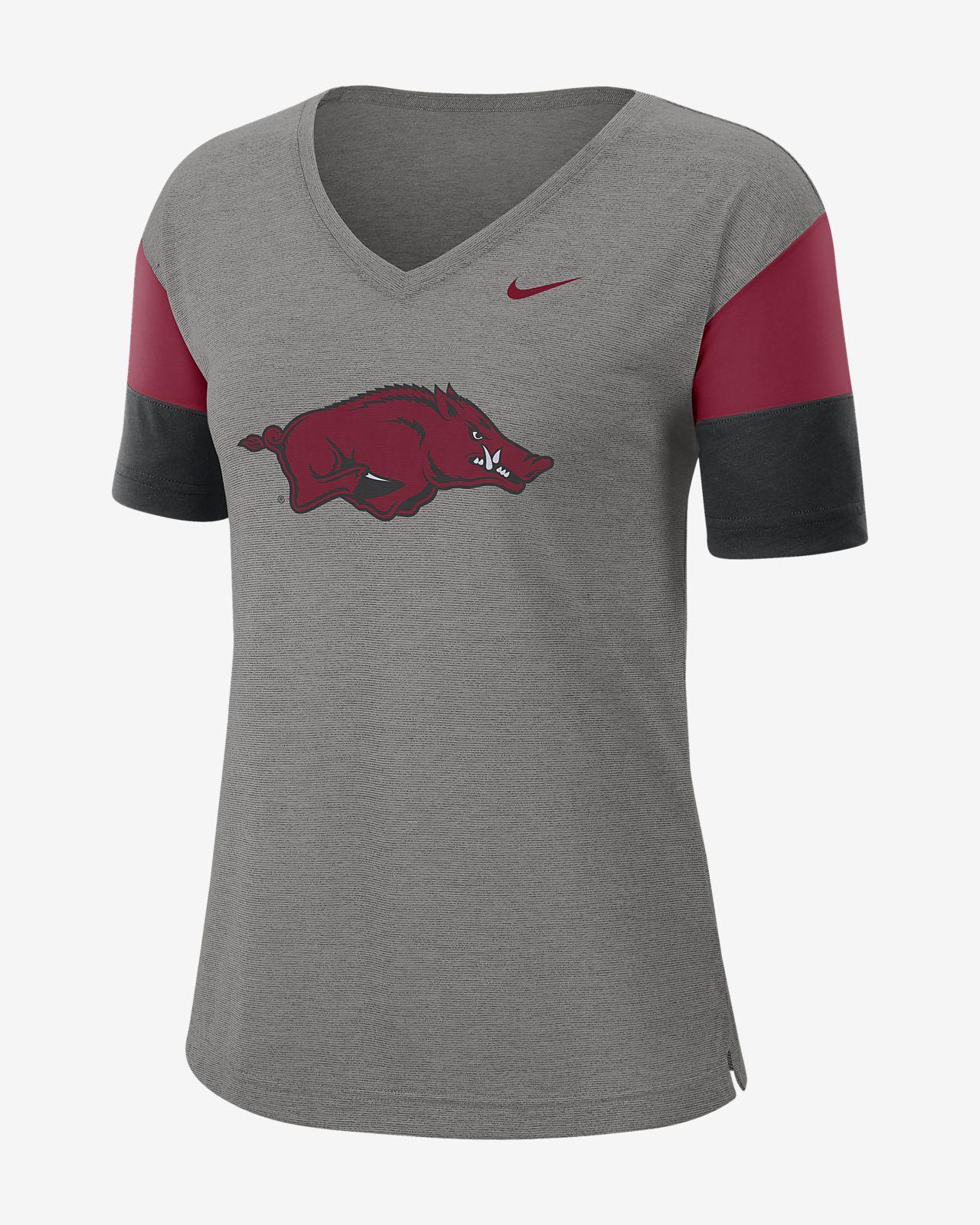 Nike College Breathe (Arkansas) Women's Short-Sleeve V-Neck Top