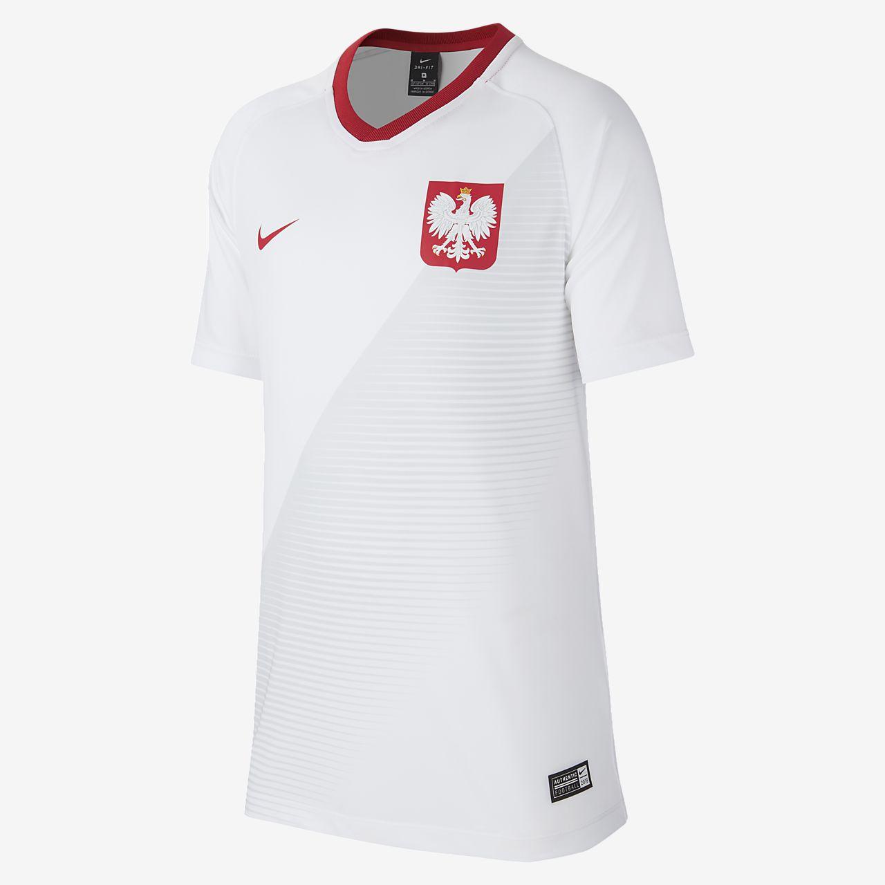Camiseta de fútbol para niños talla grande 2018 Poland Stadium Home
