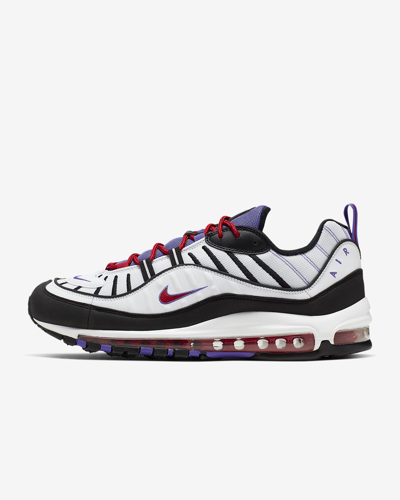 nike air max 98 white blue orange & black