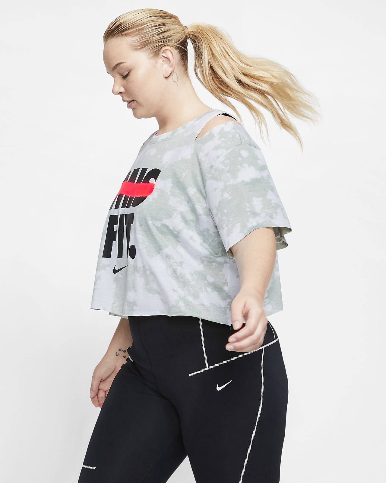 Nike Women's Short-Sleeve Graphic Training Top (Plus Size)
