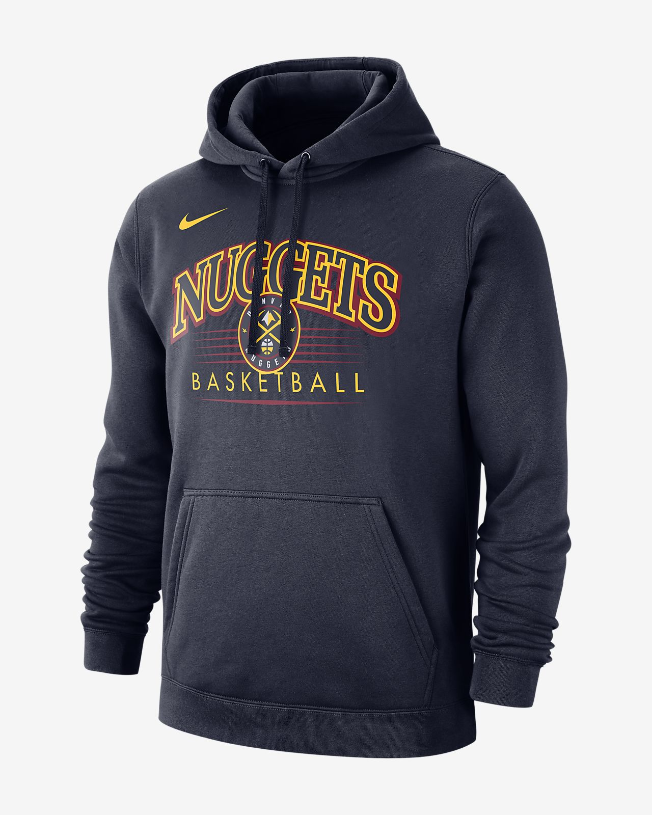 Denver Nuggets Nike NBA-s kapucnis férfipulóver