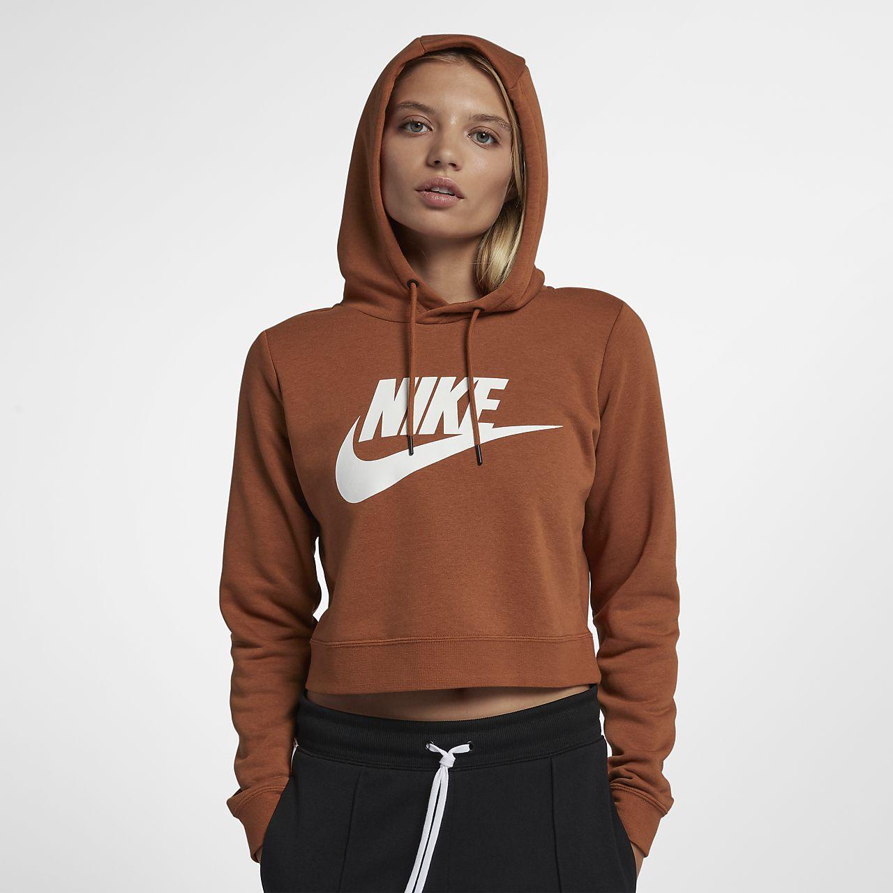 81e93fdb03 Rally Pour À Sweat Nike Be Capuche Court Femme Sportswear nHCx4UqF