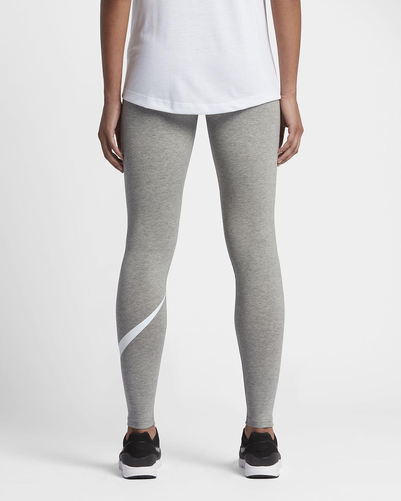 Nike High Waisted Swoosh Leggings   JD Sports