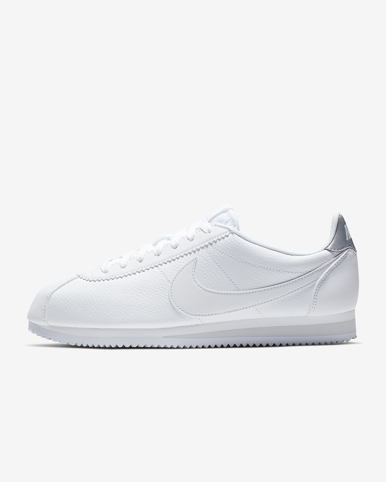quality design ec4bb bd25c all white nike cortez shoes