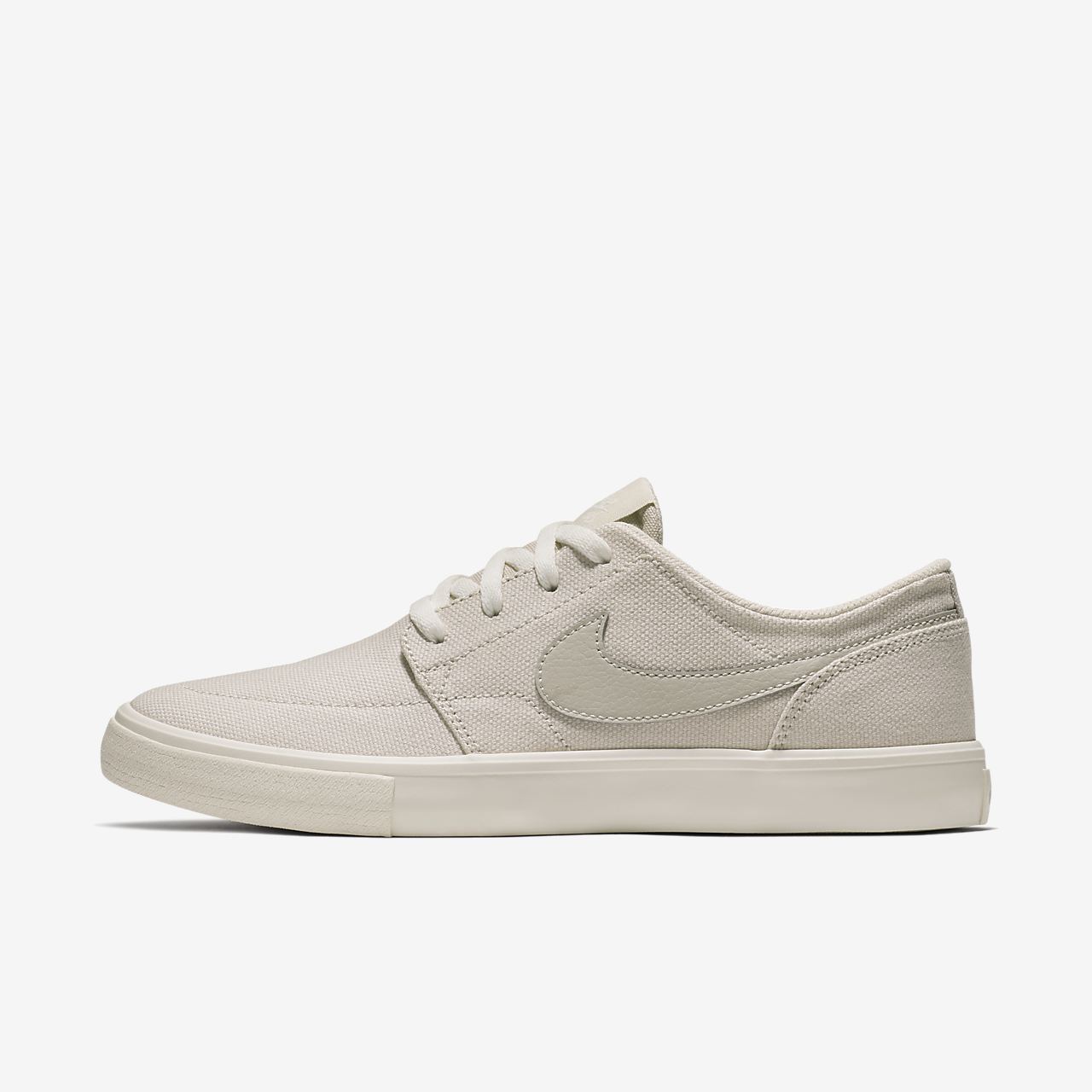 Nike SB Portmore II Women's Skateboarding Shoes White/Black vX6131X