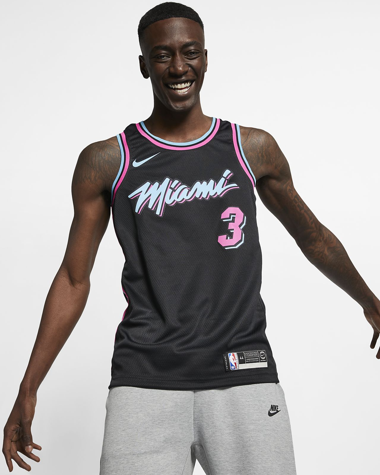 迈阿密热火队 (Dwyane Wade) City Edition Swingman Nike NBA Connected Jersey 男子球衣