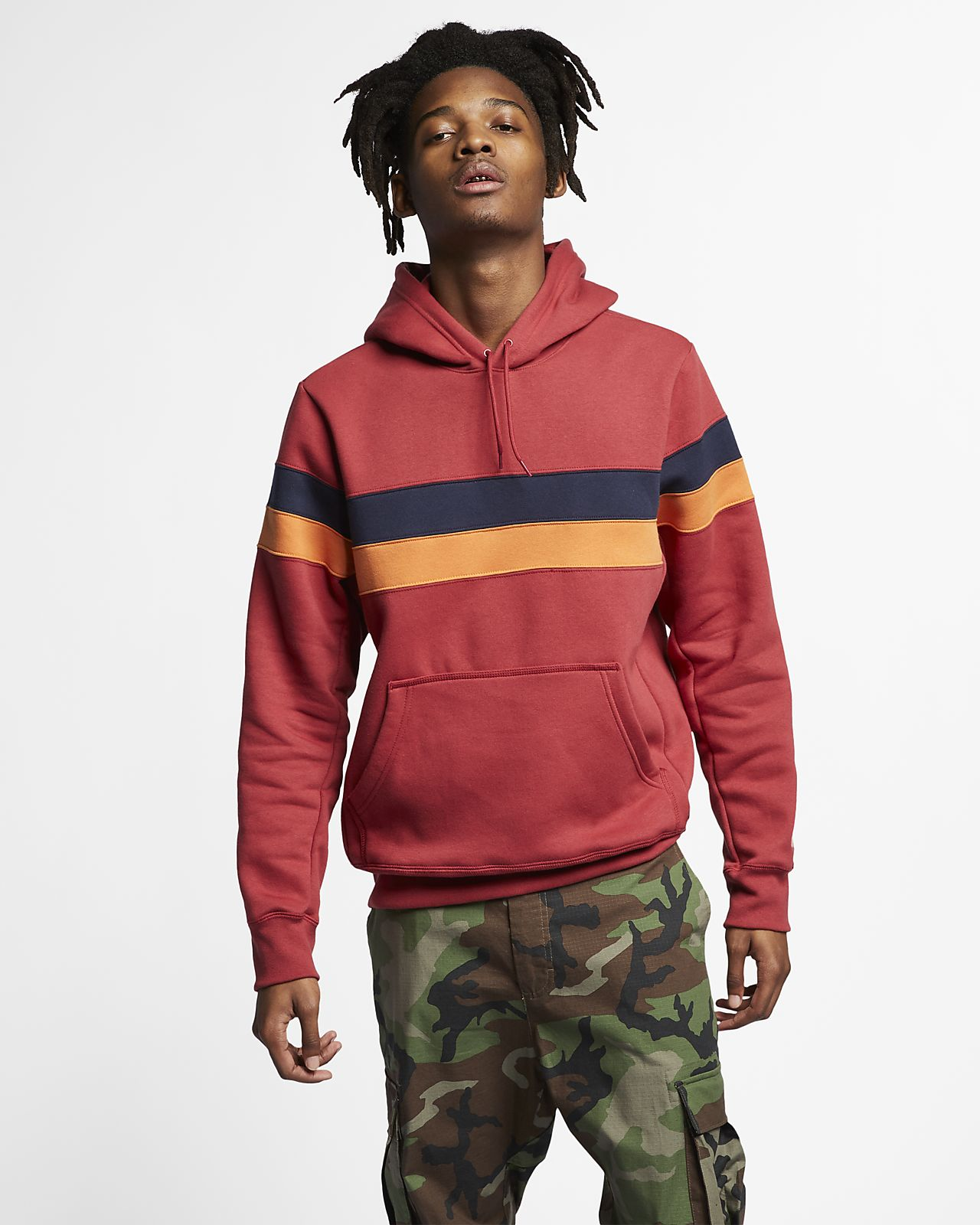 pick up bfb27 23f56 Striped Skate Hoodie. Nike SB Icon