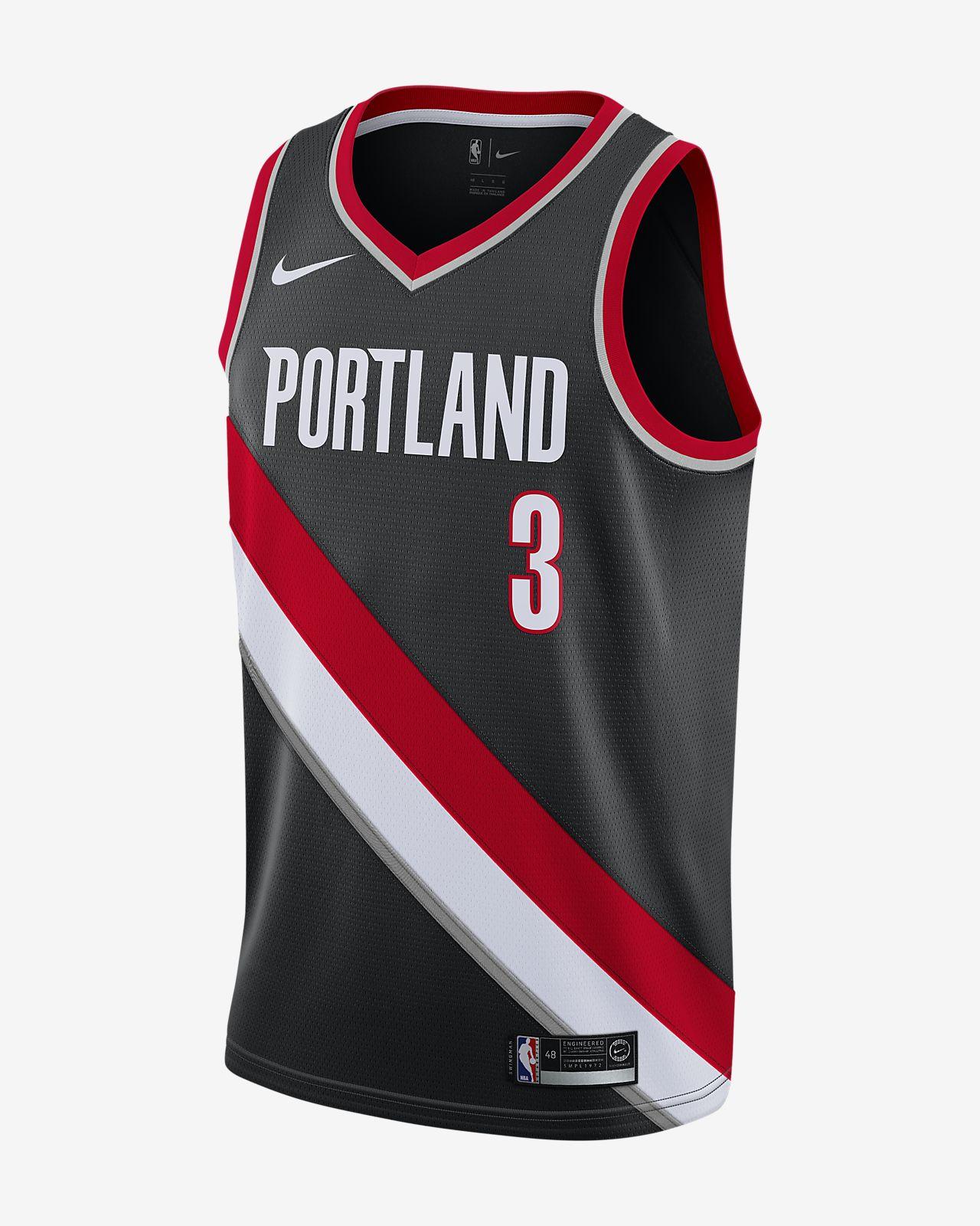 Camiseta conectada Nike NBA para hombre C. J. McCollum Icon Edition Swingman Jersey (Portland Trail Blazers)