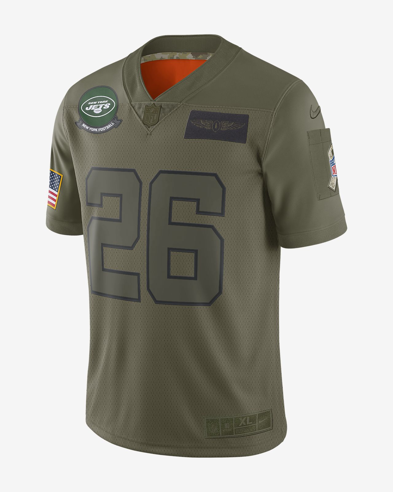 NFL New York Jets Limited Salute To Service (Le'Veon Bell) Men's Football Jersey