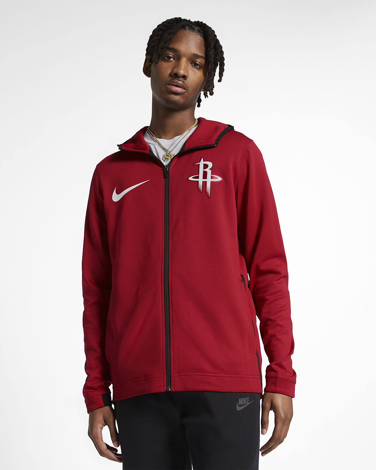 ... Sudadera con capucha de la NBA para hombre Houston Rockets Nike Therma  Flex Showtime d9315cd1ec1