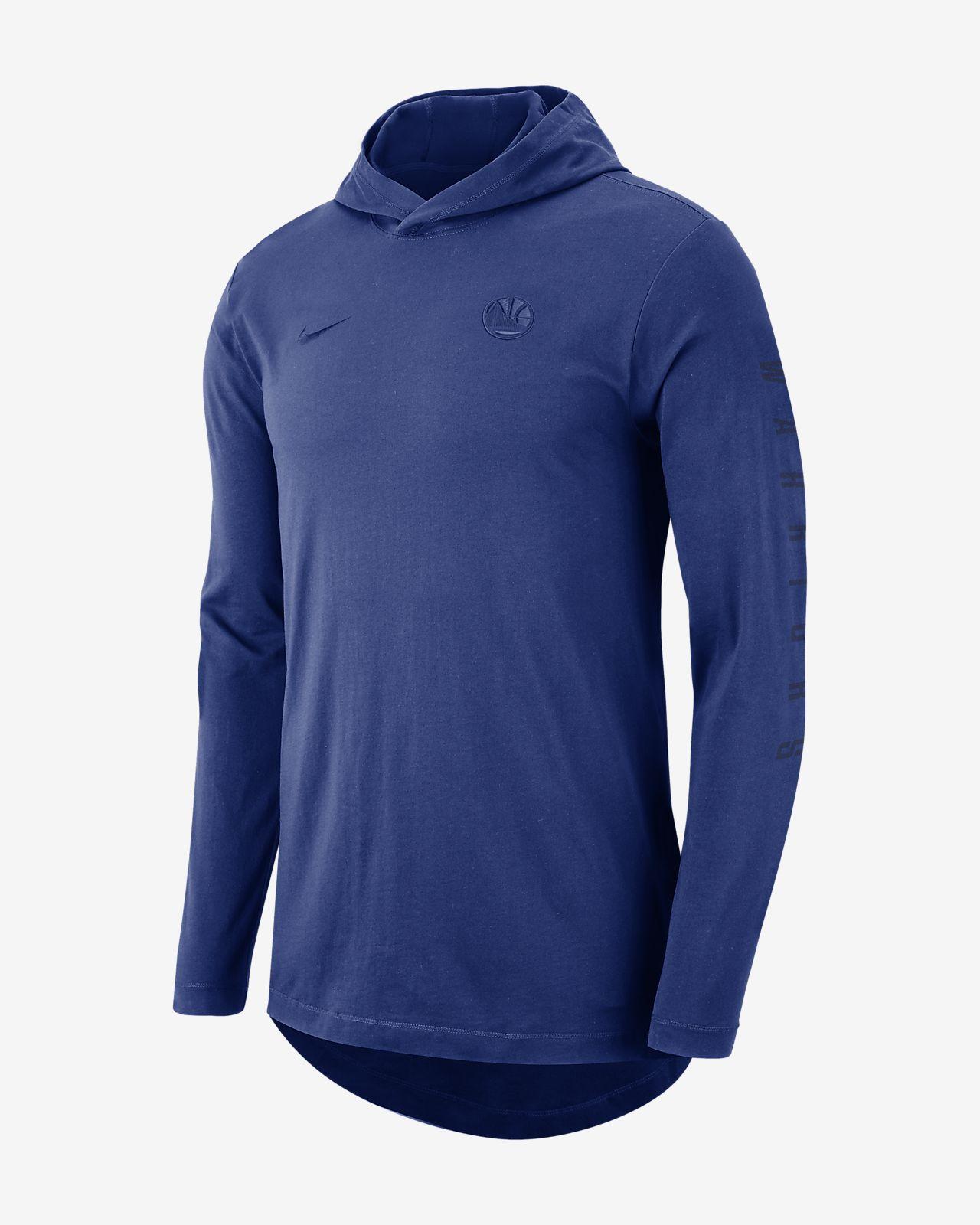 9ec414c70a7 Golden State Warriors Nike Men s Hooded Long-Sleeve NBA T-Shirt ...