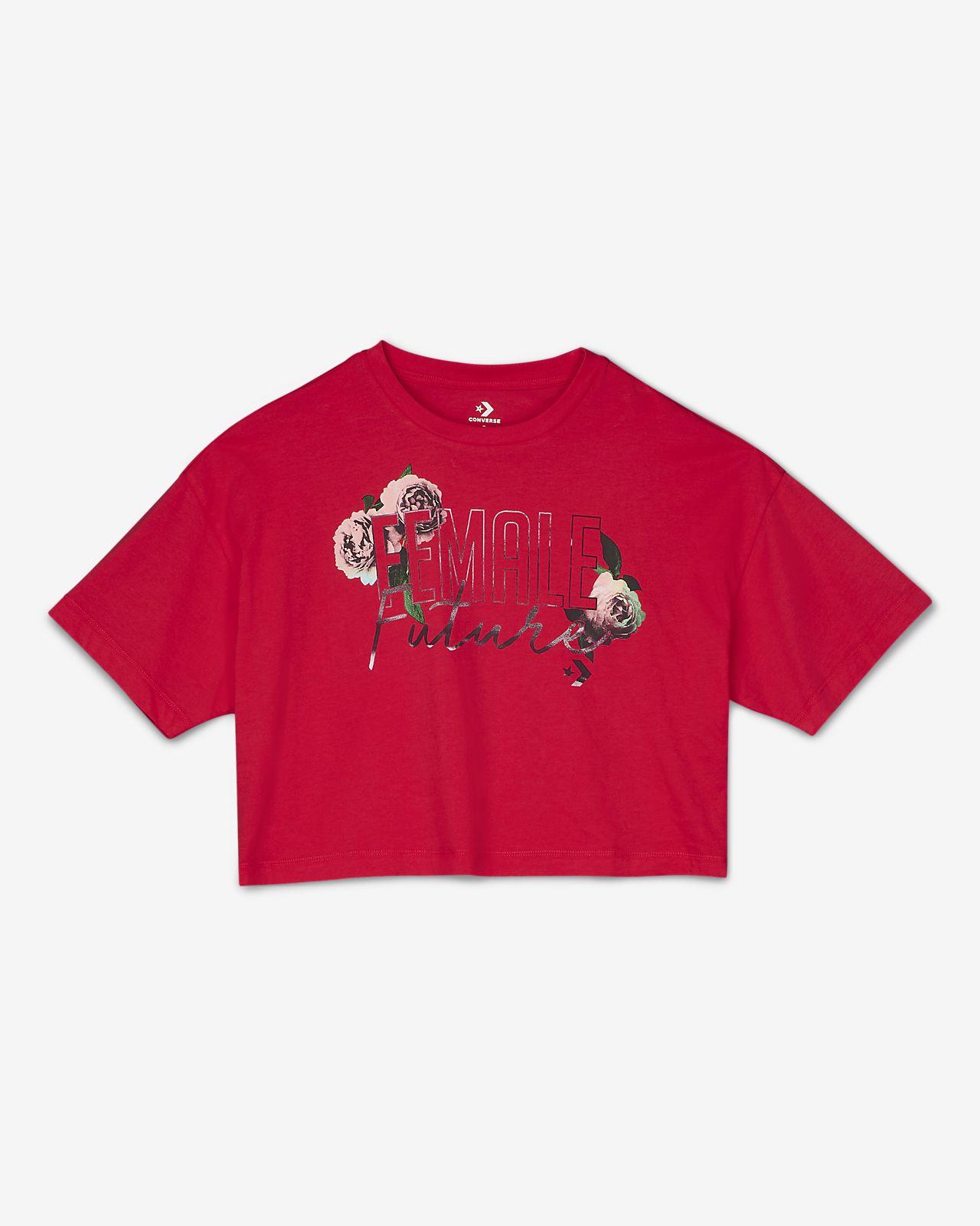 Converse Female Future  Women's Cropped Boxy T-Shirt
