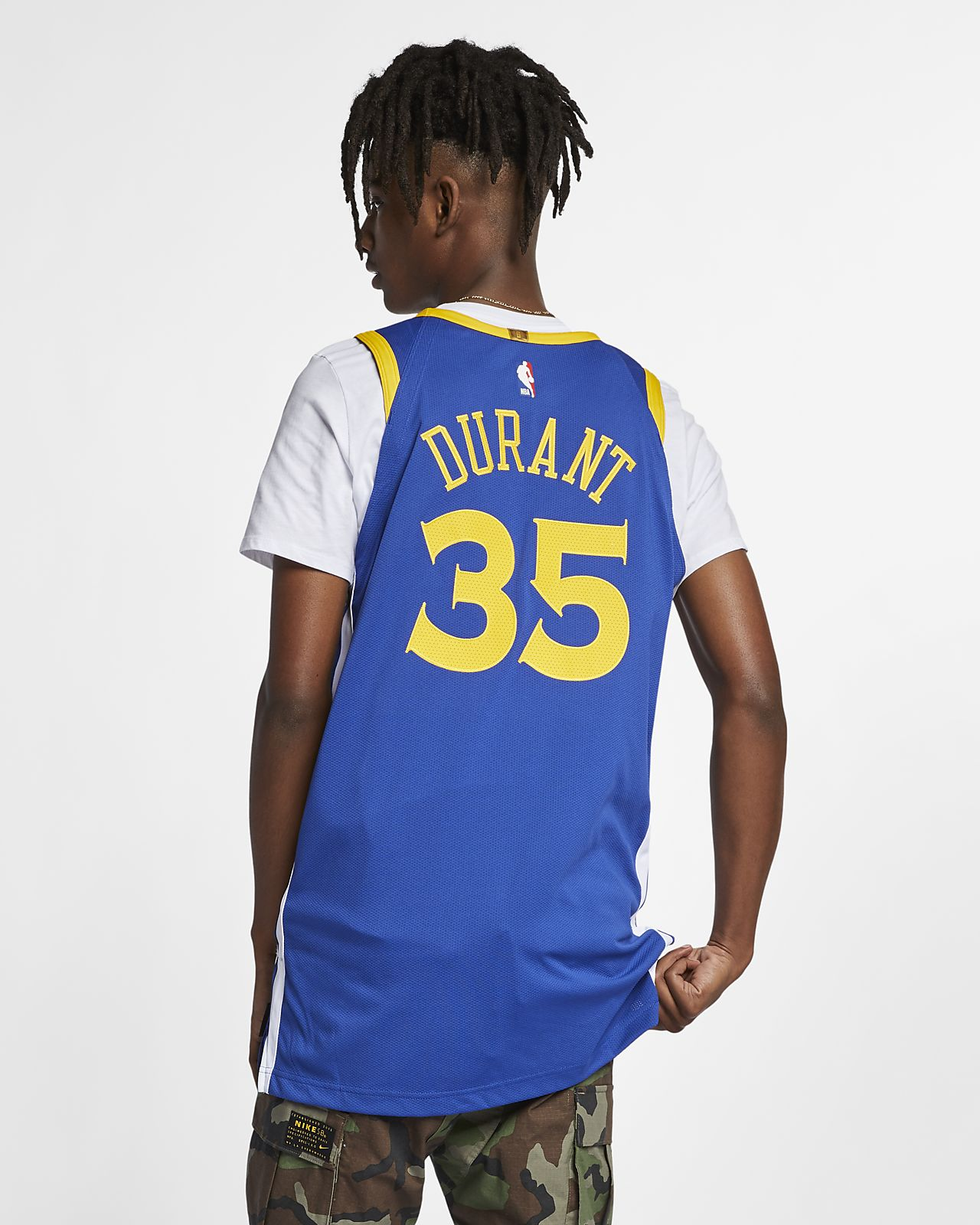 32ede1243c11 ... Kevin Durant Icon Edition Authentic (Golden State Warriors) Men s Nike  NBA Connected Jersey