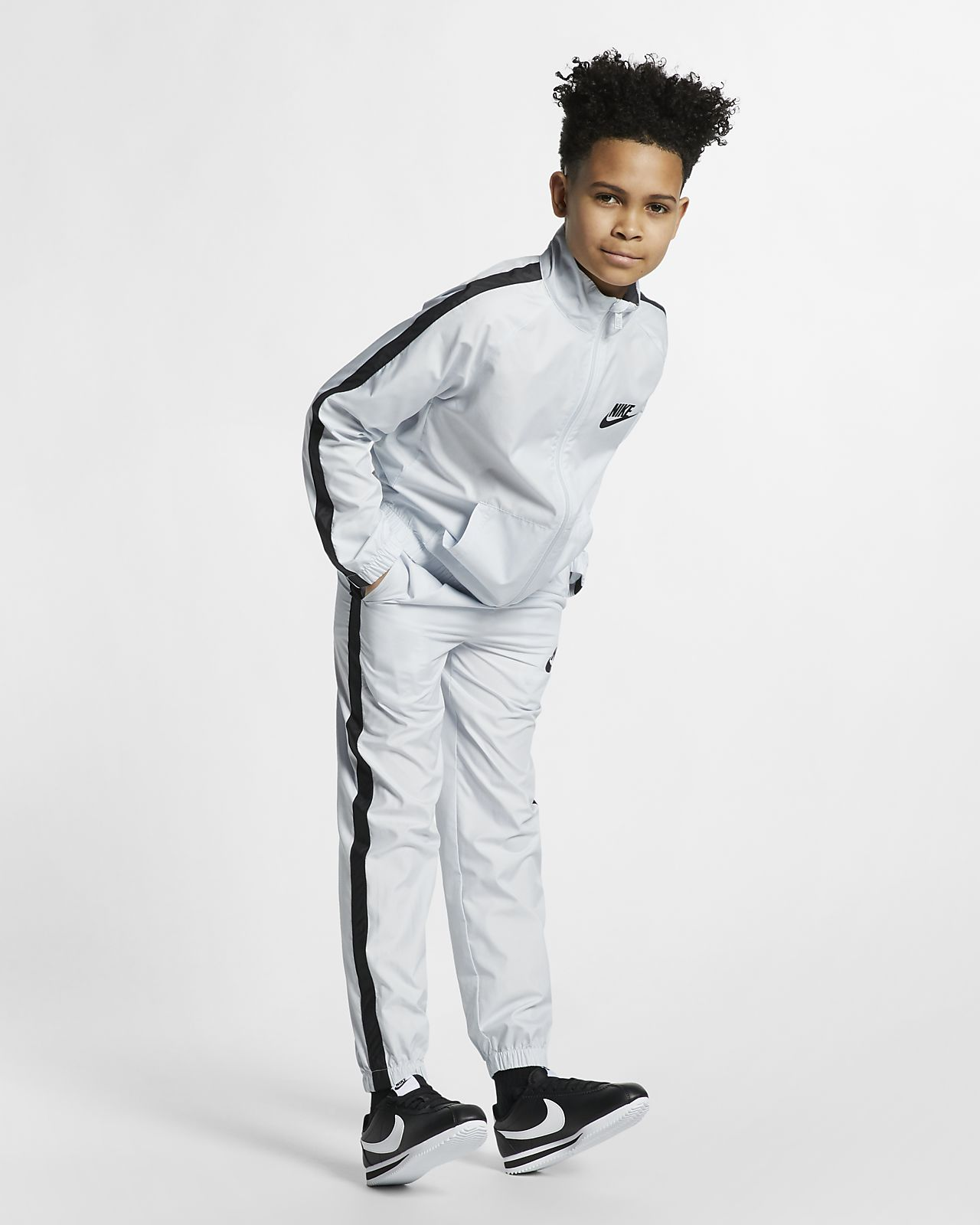 Tkaná tepláková souprava Nike Sportswear pro větší děti
