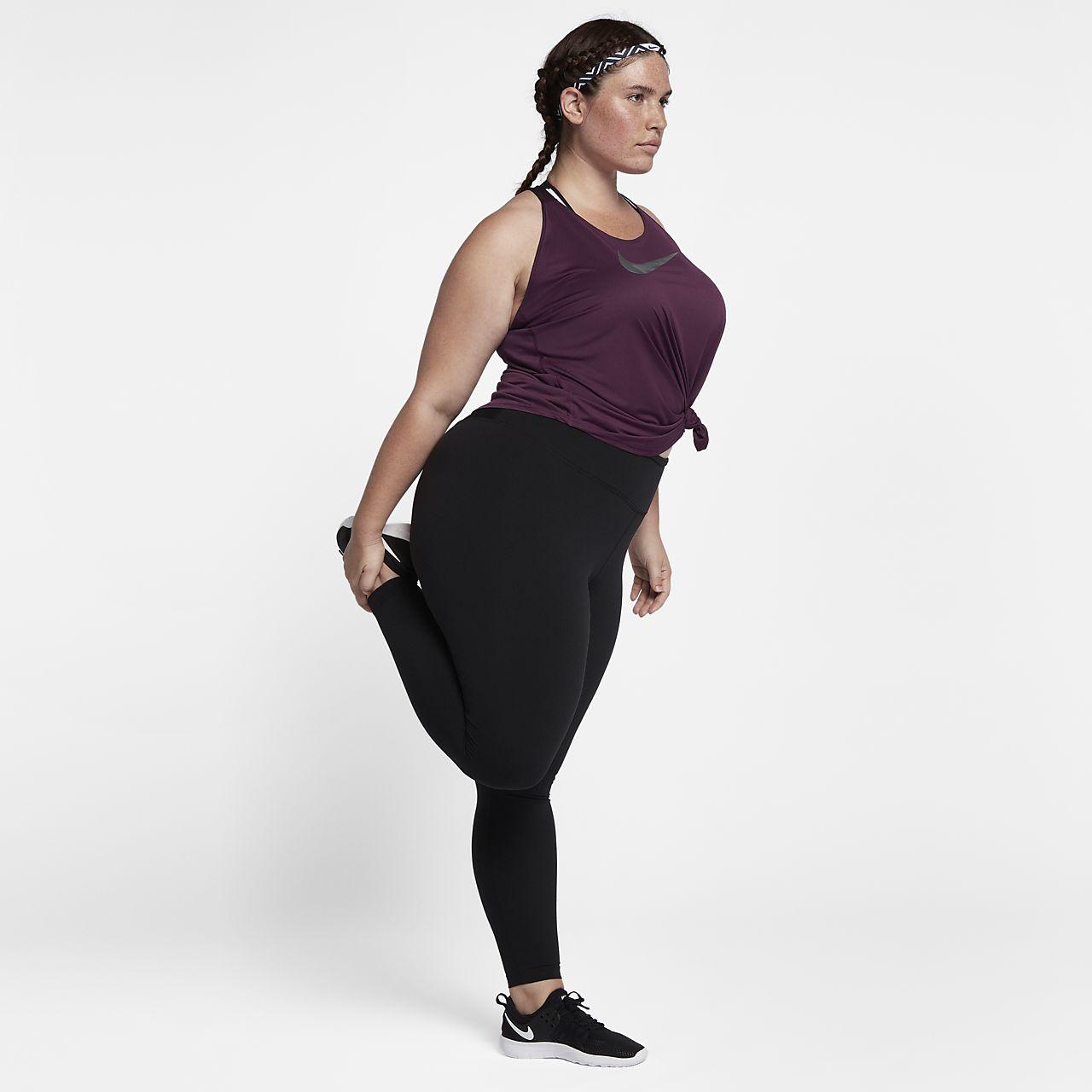 ... Camiseta de tirantes de entrenamiento para mujer Nike Breathe Elastika  (talla grande)