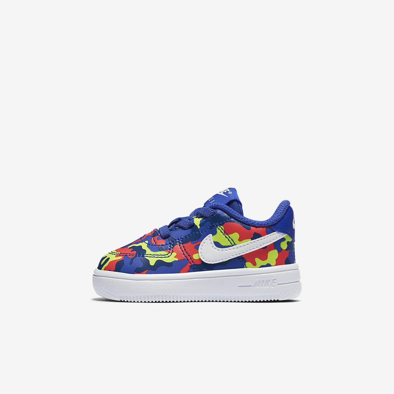 70a95b685442 Nike Force 1 18 Print Baby  amp  Toddler Shoe. Nike.com AU