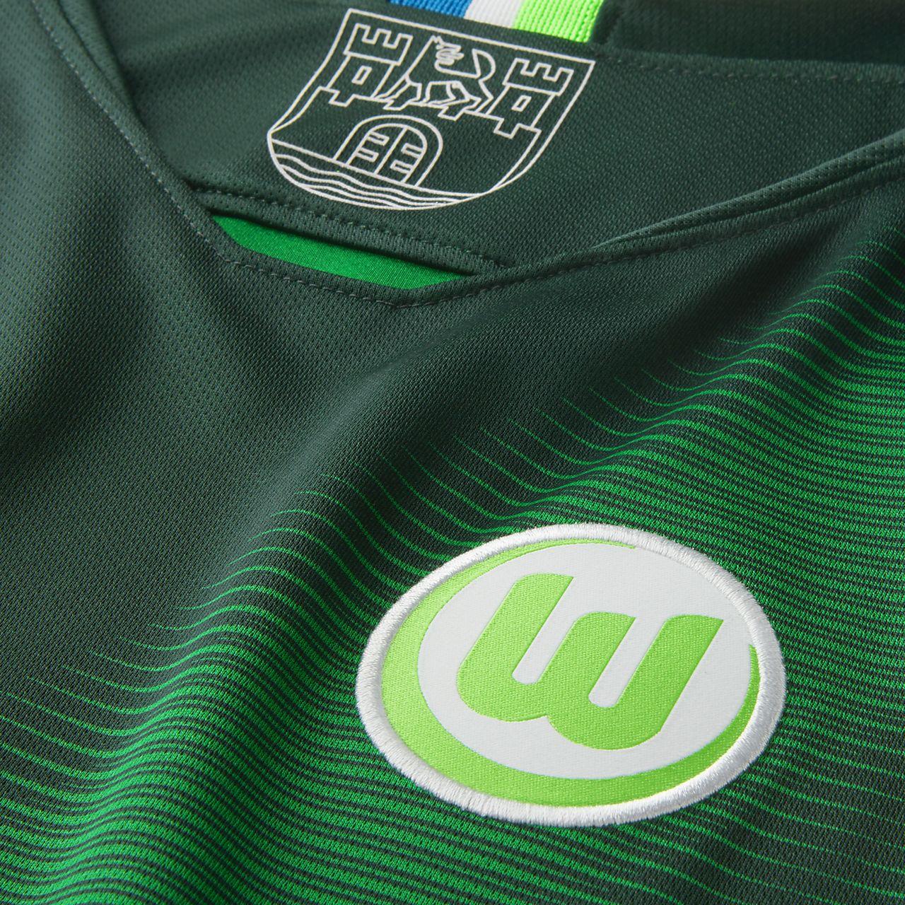 865564139f Camisola de futebol 2018 19 VfL Wolfsburg Stadium Home Júnior. Nike ...