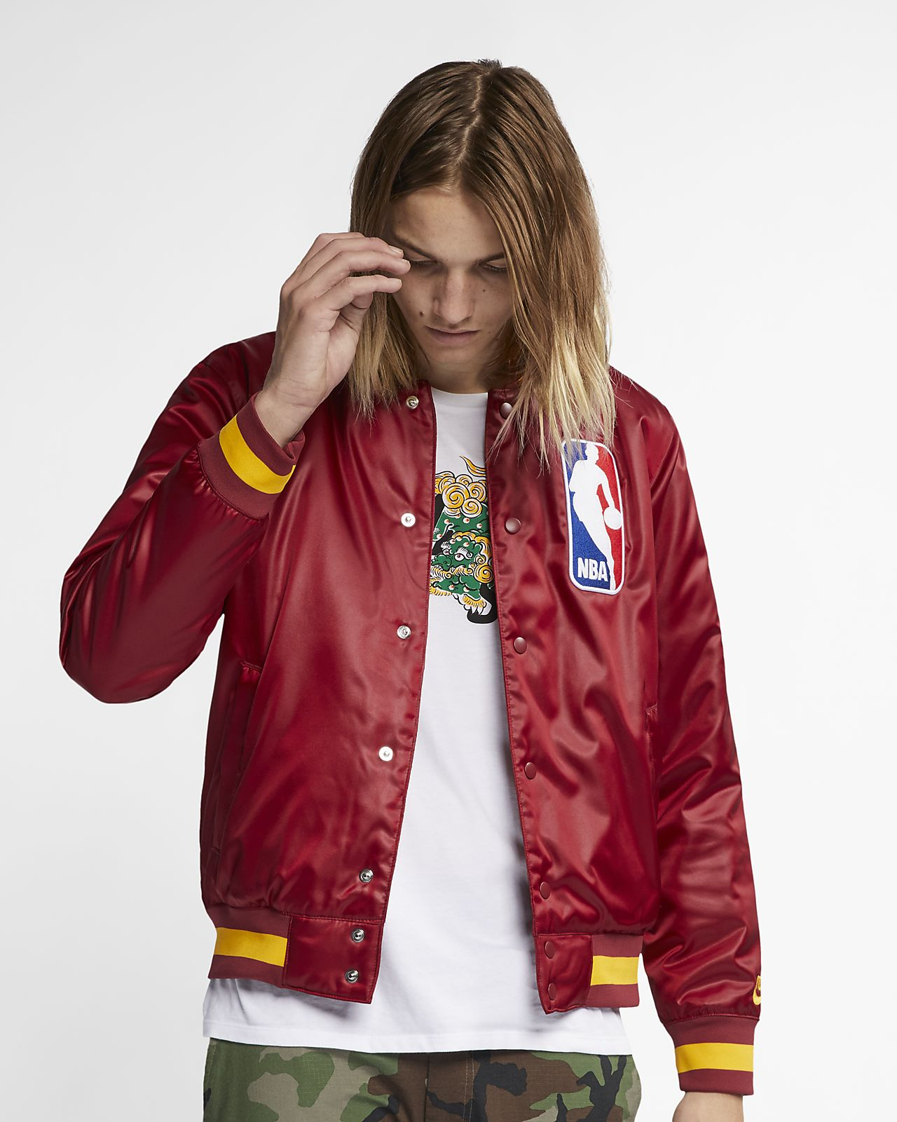 sale retailer 07590 176e8 Men s Skate Bomber Jacket. Nike SB x NBA