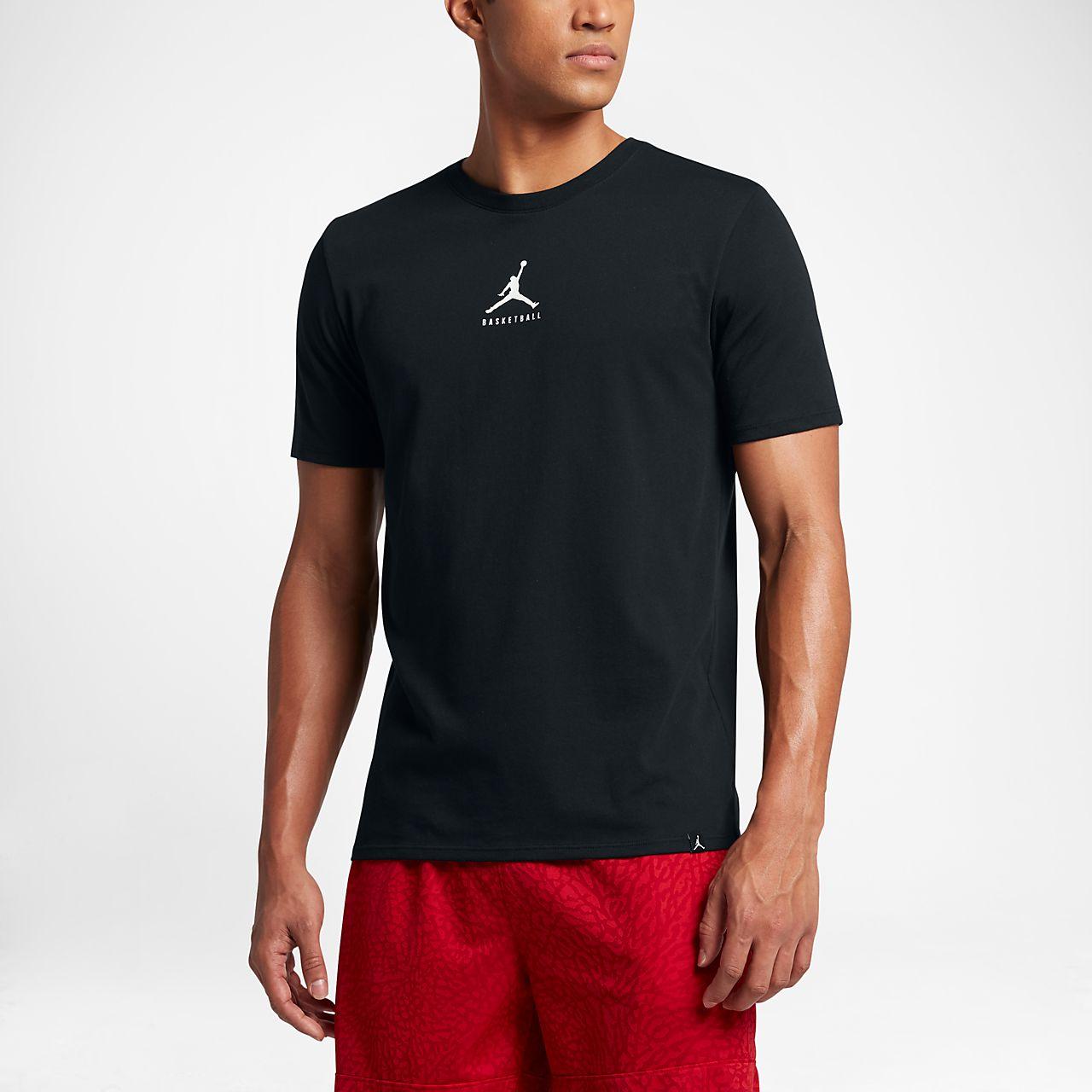 Jordan Dry 23/7 Jumpman Basketball Men's T-Shirts Black/White