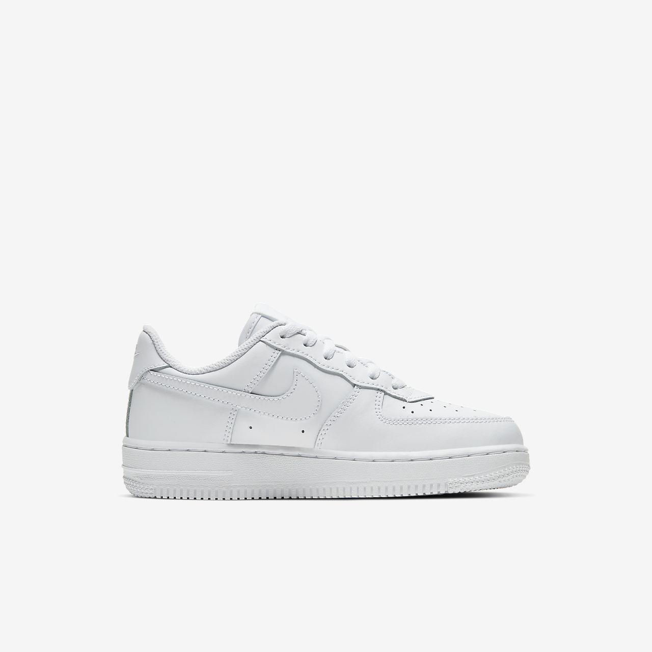 Nike Force 1 Triple White Little Kids' Shoe