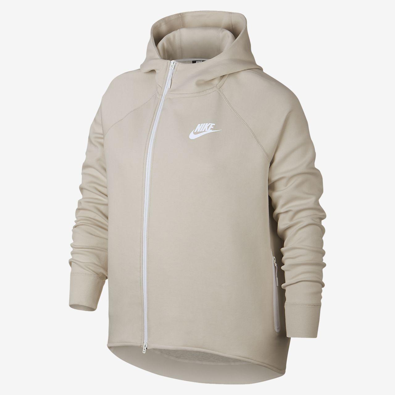 Cape med hel dragkedja Nike Sportswear Tech Fleece för kvinnor (stora storlekar)