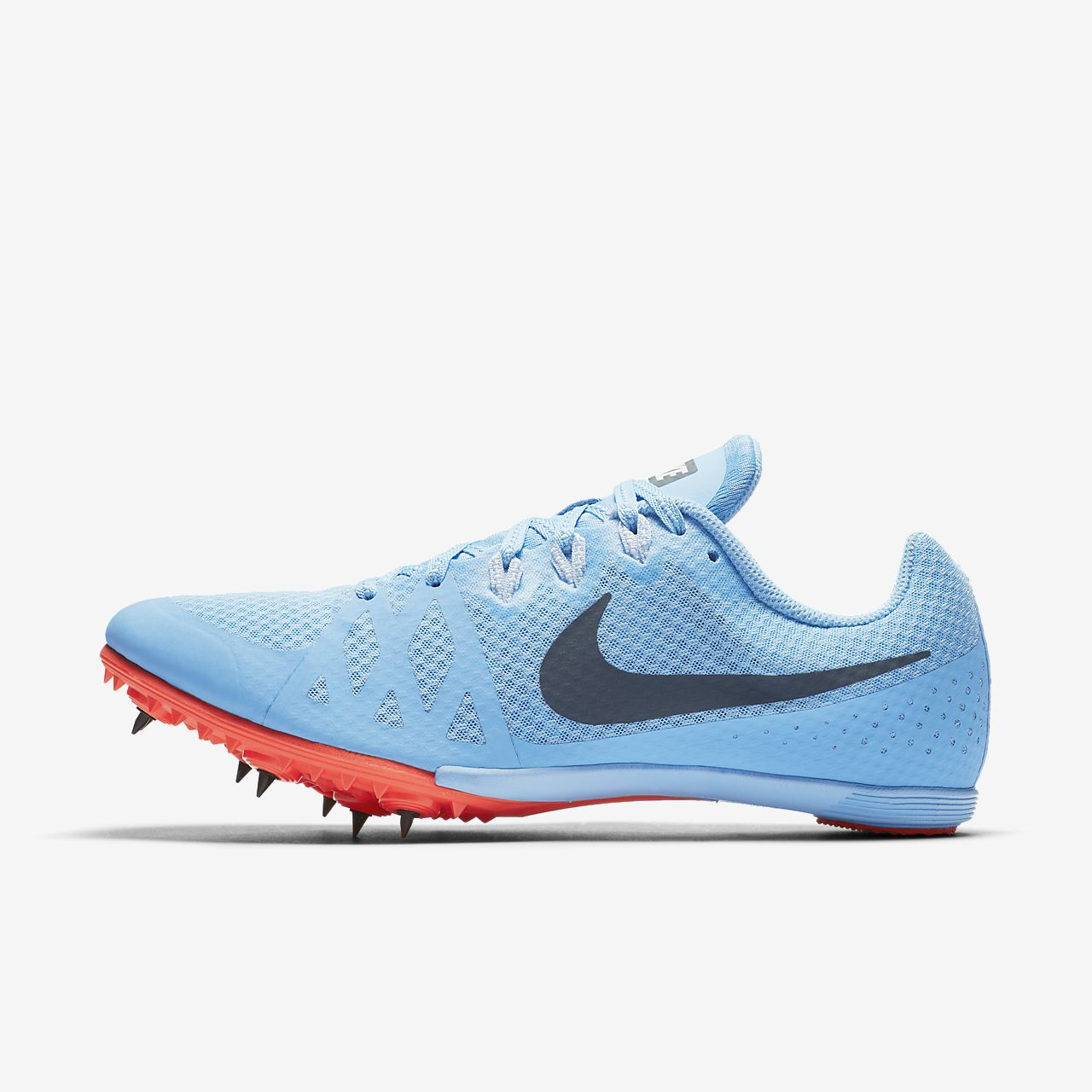 NIKE Zoom Rival M 8 Track Field Racing Spike Running Shoes Blue Women