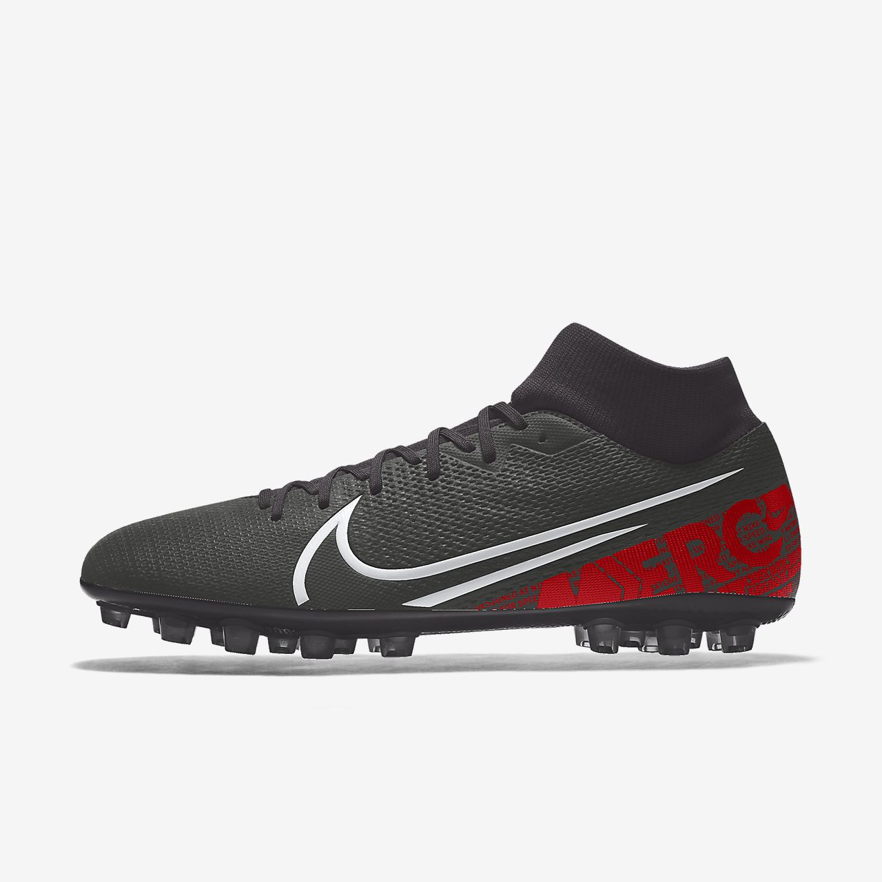 Calzado de fútbol para césped artificial personalizado Nike Mercurial Superfly 7 Academy AG By You