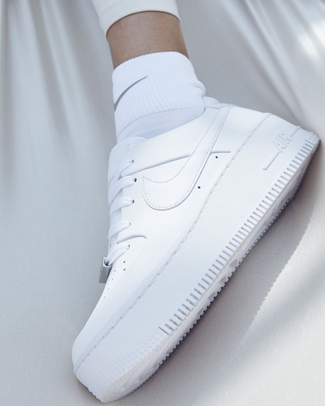 Nike Air Force 1 Sage Low W WhiteWhiteWhite