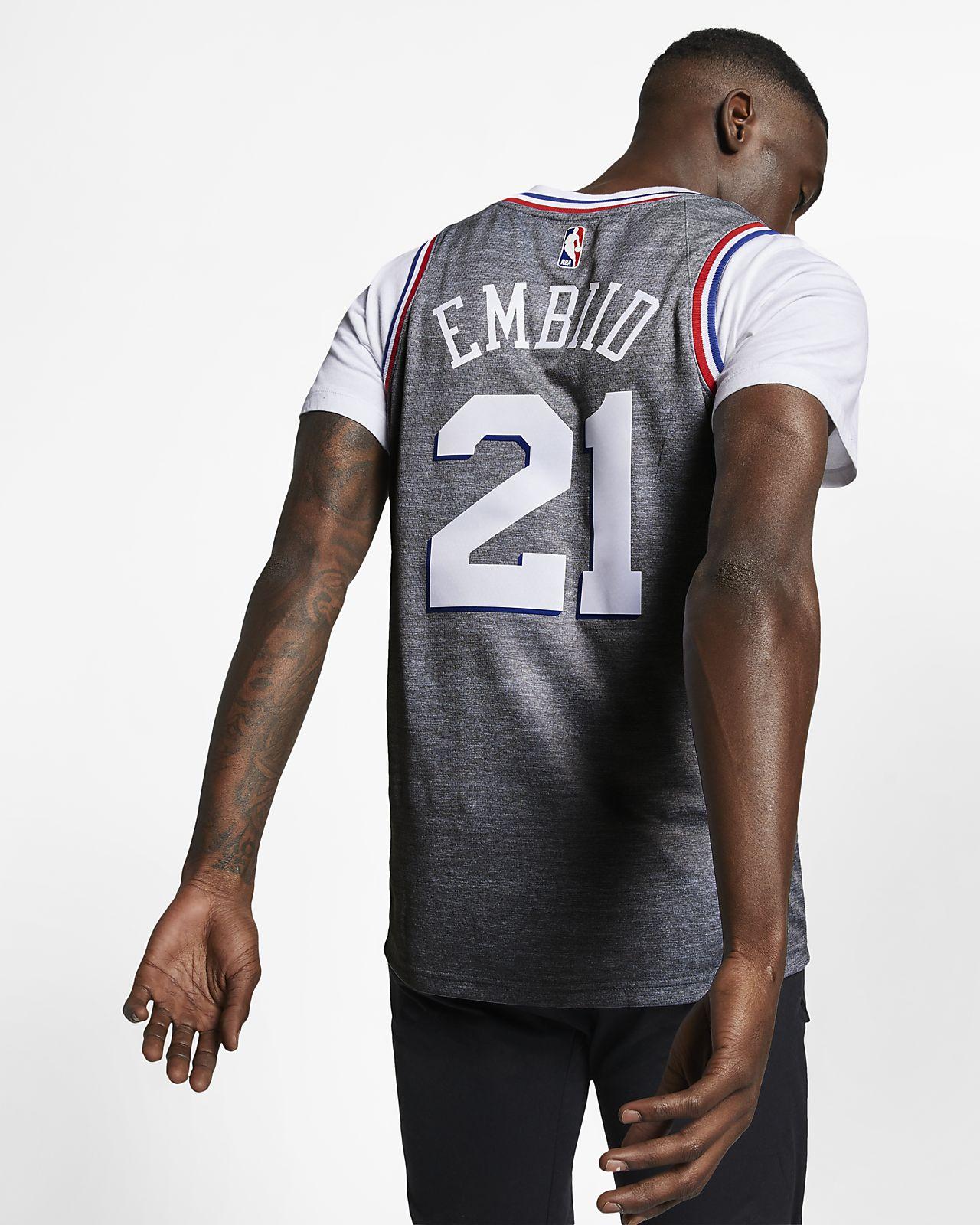 727eed0b30b ... Joel Embiid City Edition Swingman (Philadelphia 76ers) Nike NBA  Connected Trikot für Herren