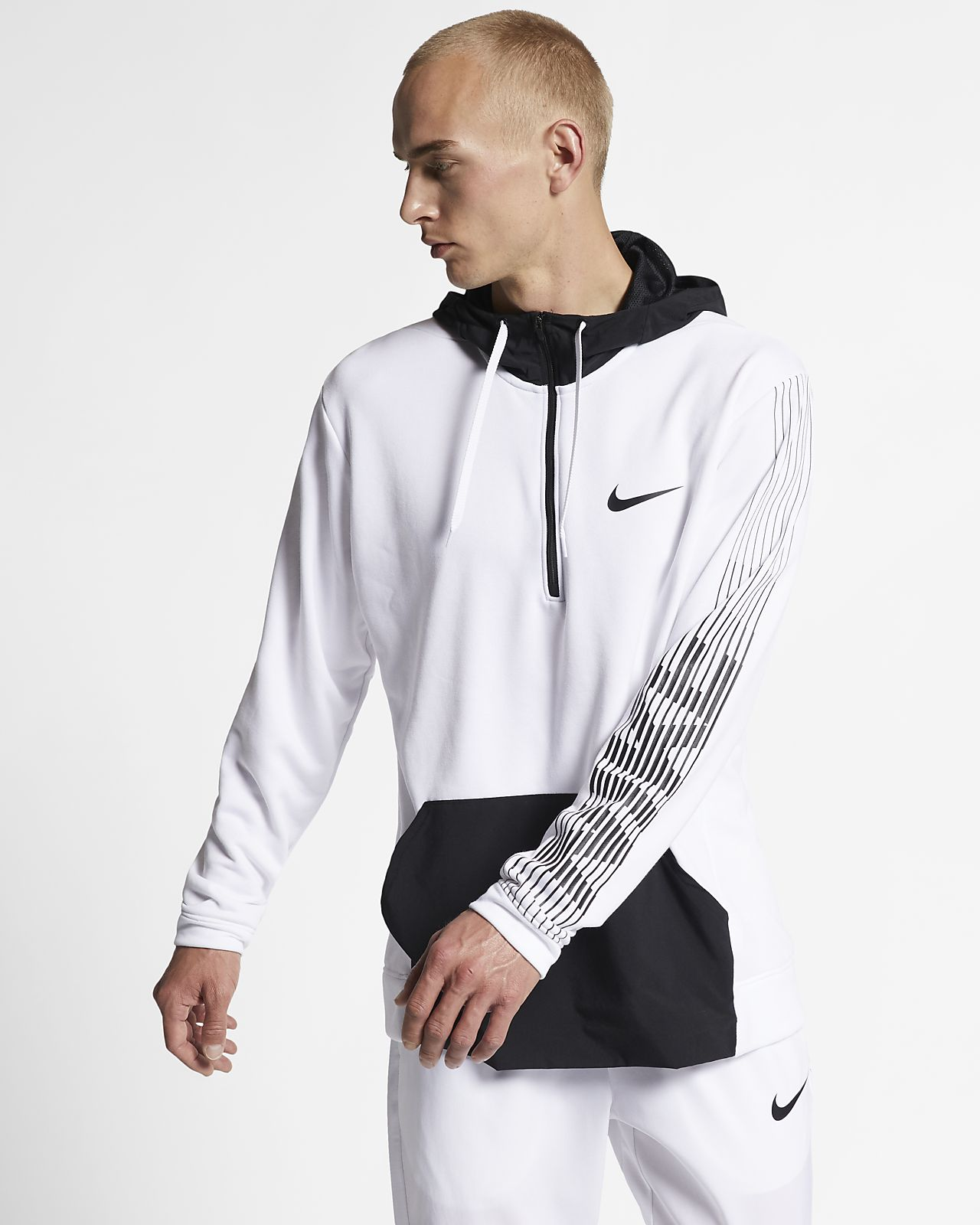 Nike Dri-FIT-træningshættetrøje i fleece til mænd