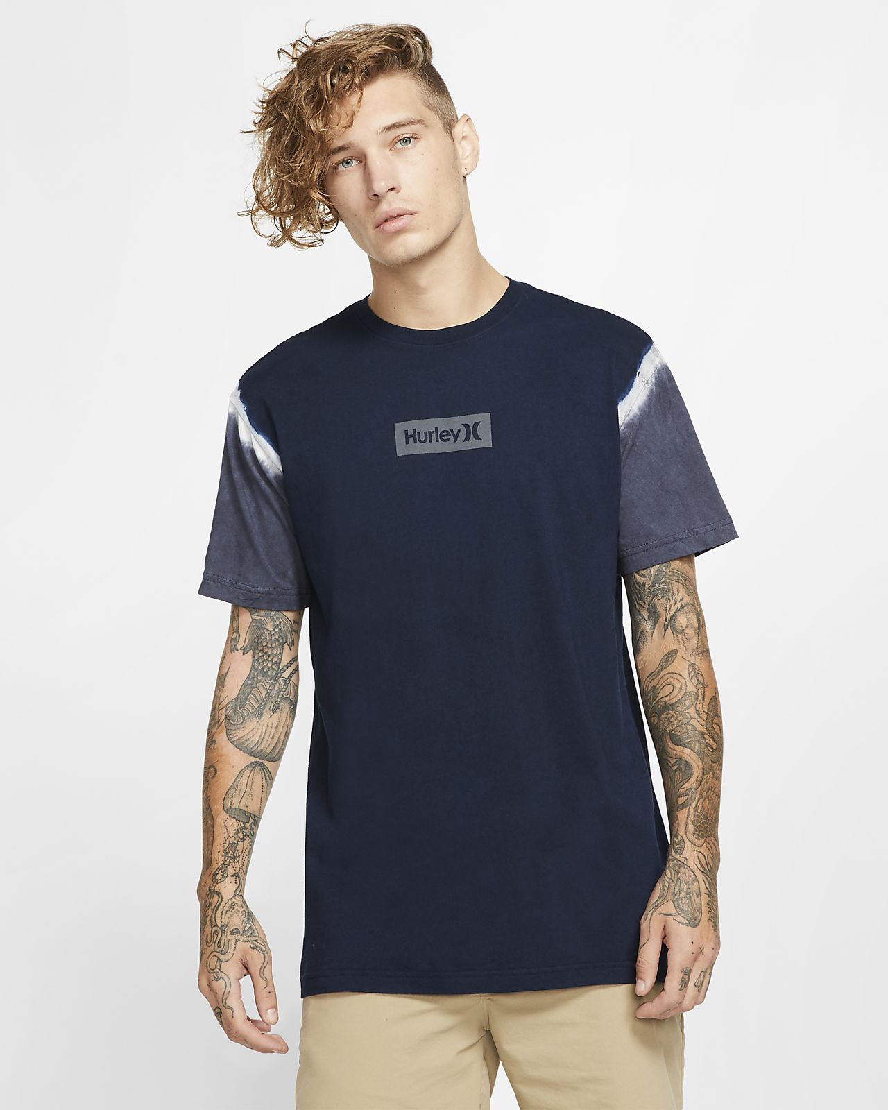 T-shirt męski Hurley One And Only Small Box Dip Dye