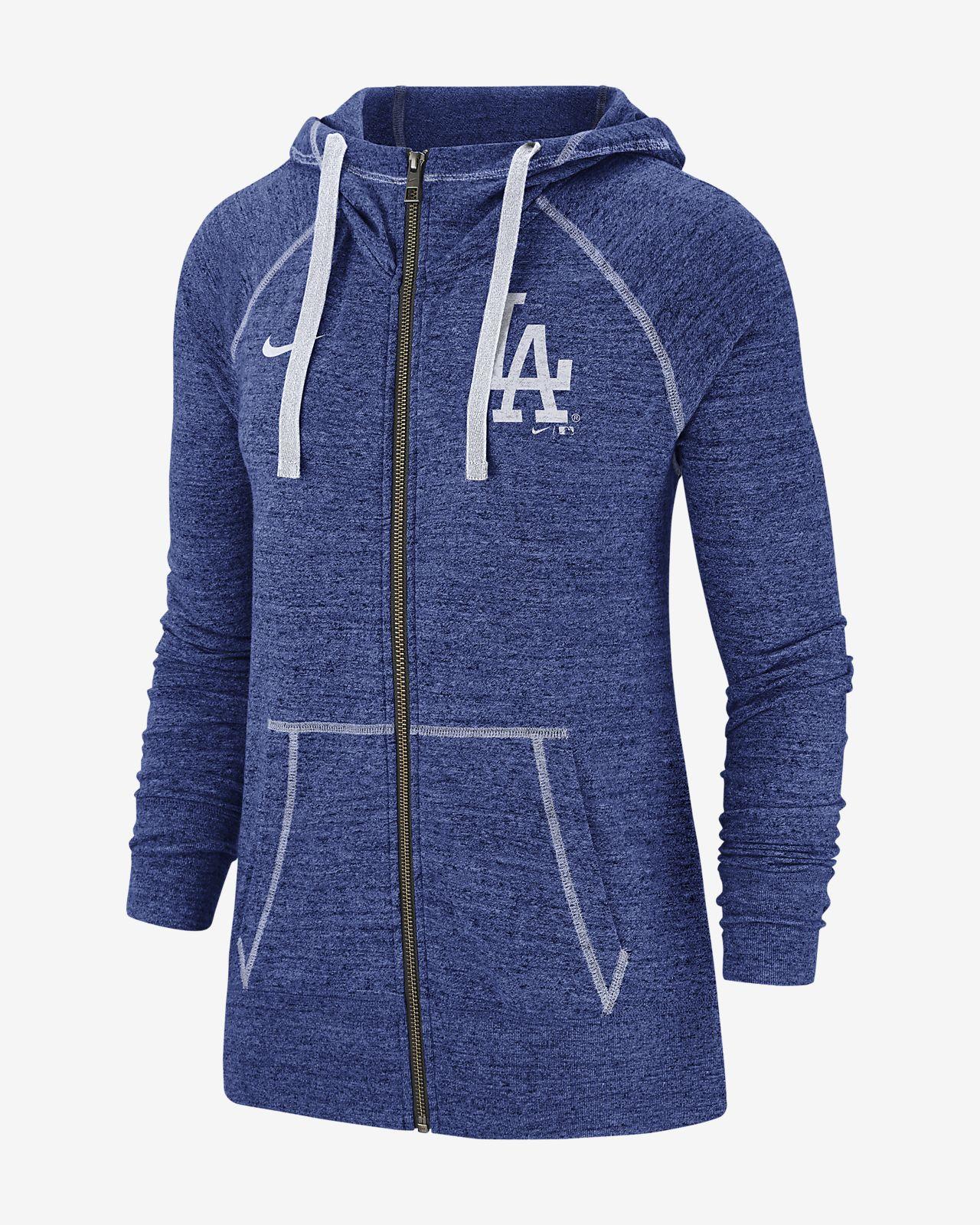 Nike Gym Vintage (MLB Dodgers) Women's Full-Zip Hoodie