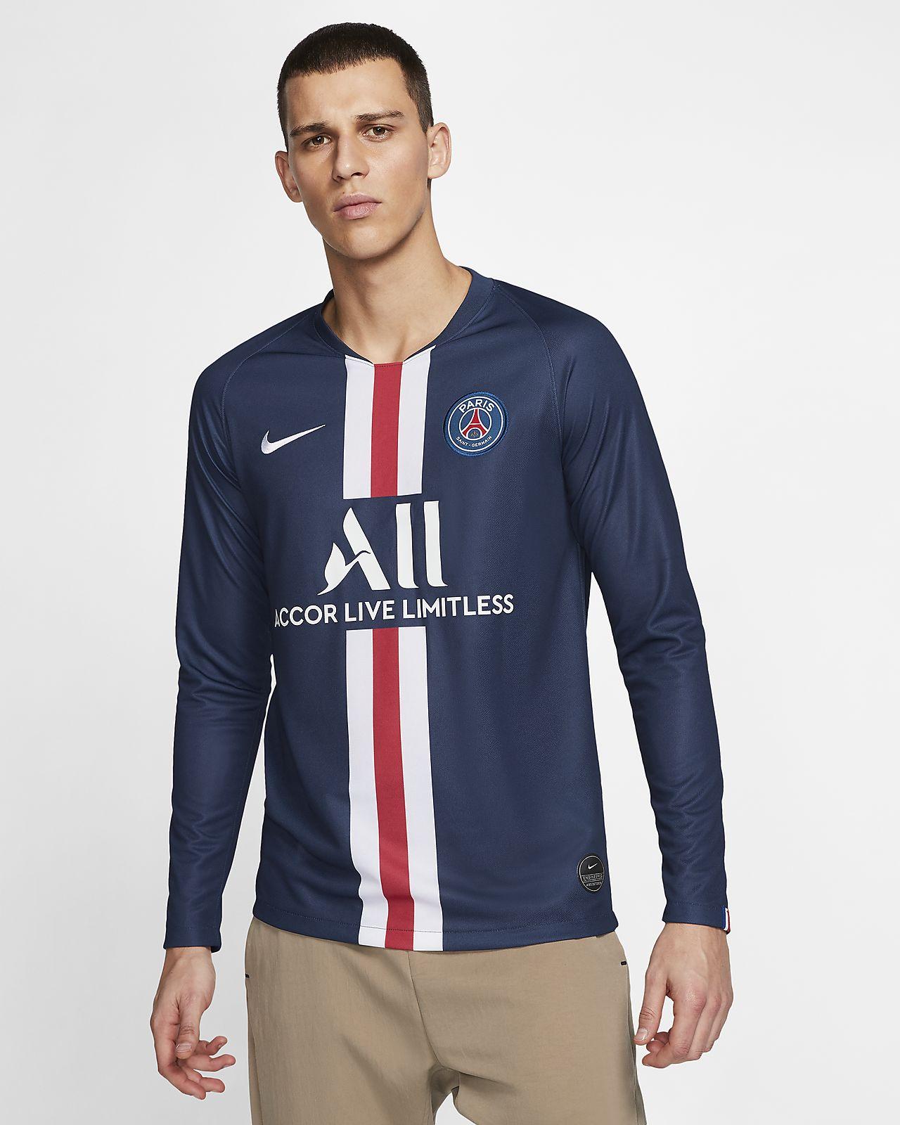 ab1b6c1ca ... Męska koszulka piłkarska z długim rękawem Paris Saint-Germain 2019/20  Stadium Home
