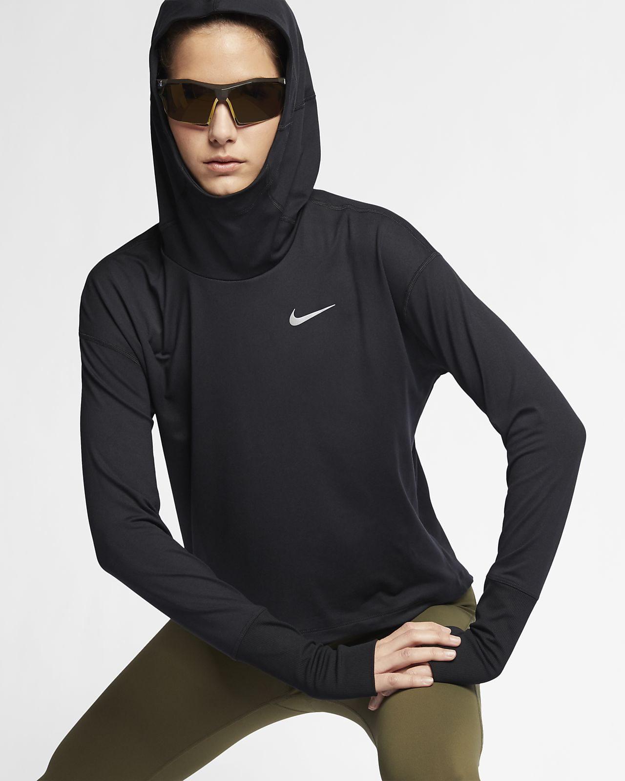 Sudadera con capucha de running para mujer Nike Element