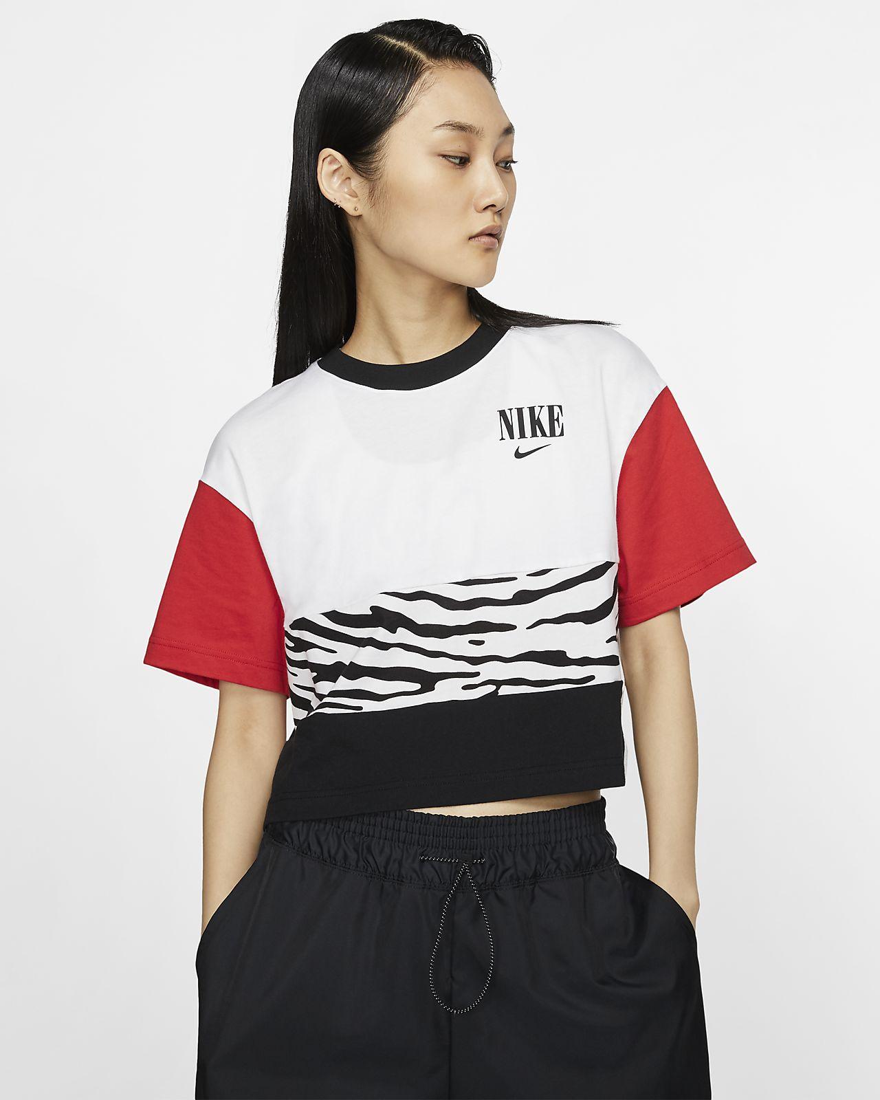 Nike Sportswear Essential Kurzoberteil mit Print für Damen