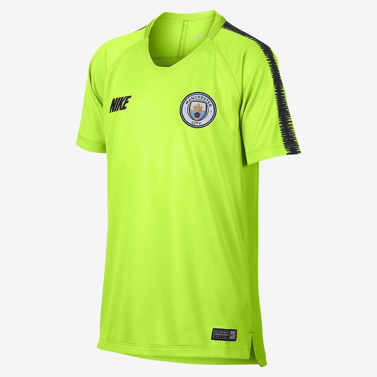 37b306e1dc78 ... Ποδοσφαιρική μπλούζα Manchester City FC Breathe Squad για μεγάλα παιδιά