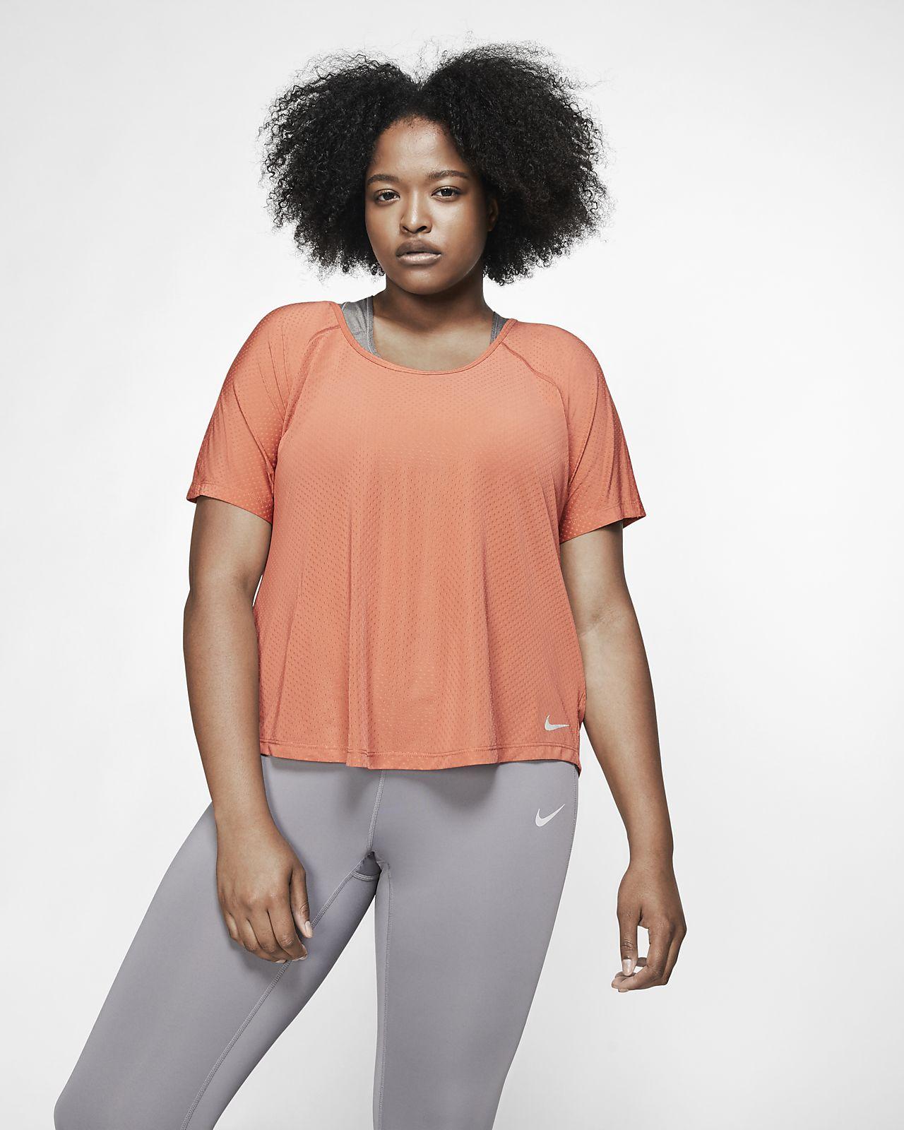 Dámský běžecký top Nike Breathe Miler (větší velikost)