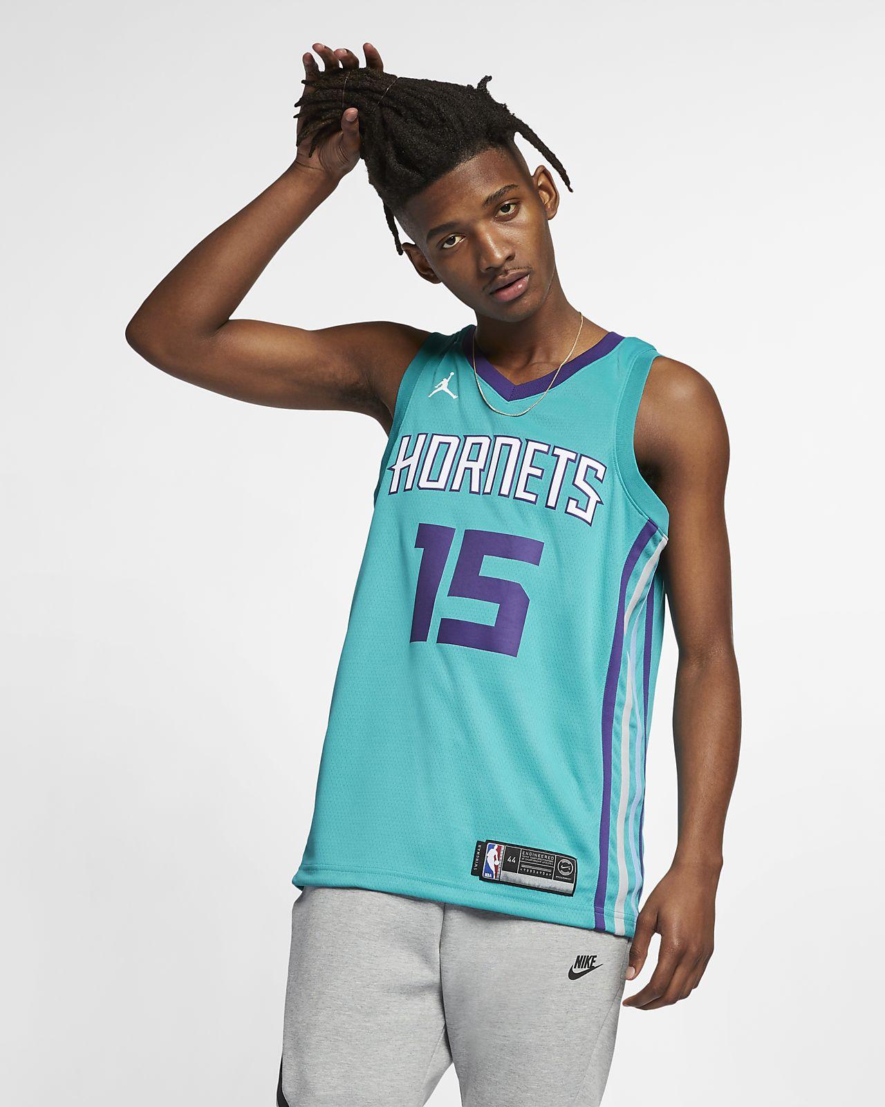 Maillot connecté Jordan NBA Kemba Walker Icon Edition Swingman (Charlotte Hornets) pour Homme