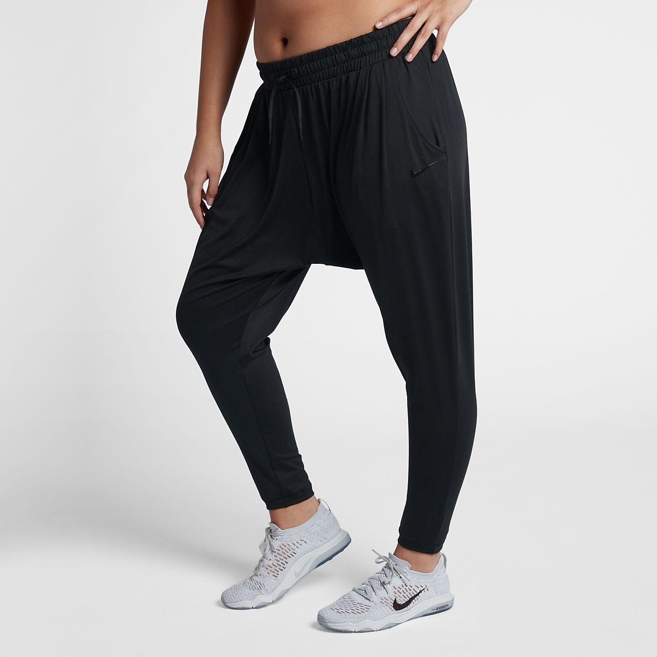 Nike Dri-FIT Flow Trainings-Hose für Damen (große Größe)