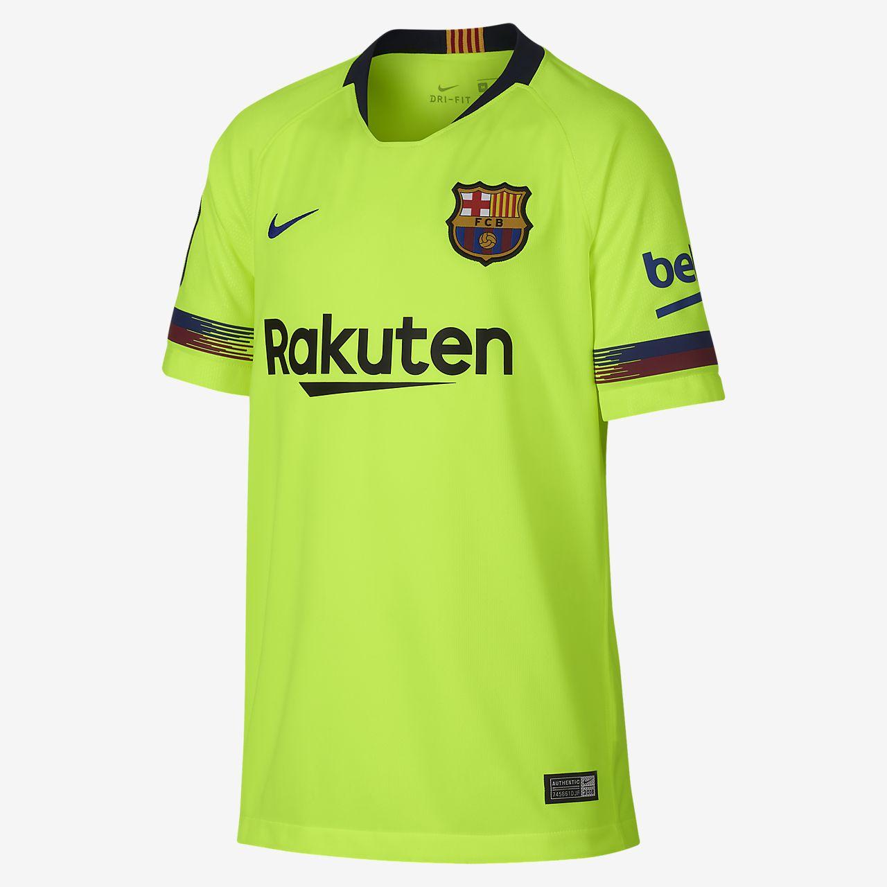 ... Camiseta de fútbol para niños talla grande 2018 19 FC Barcelona Stadium  Away a7008b649a302