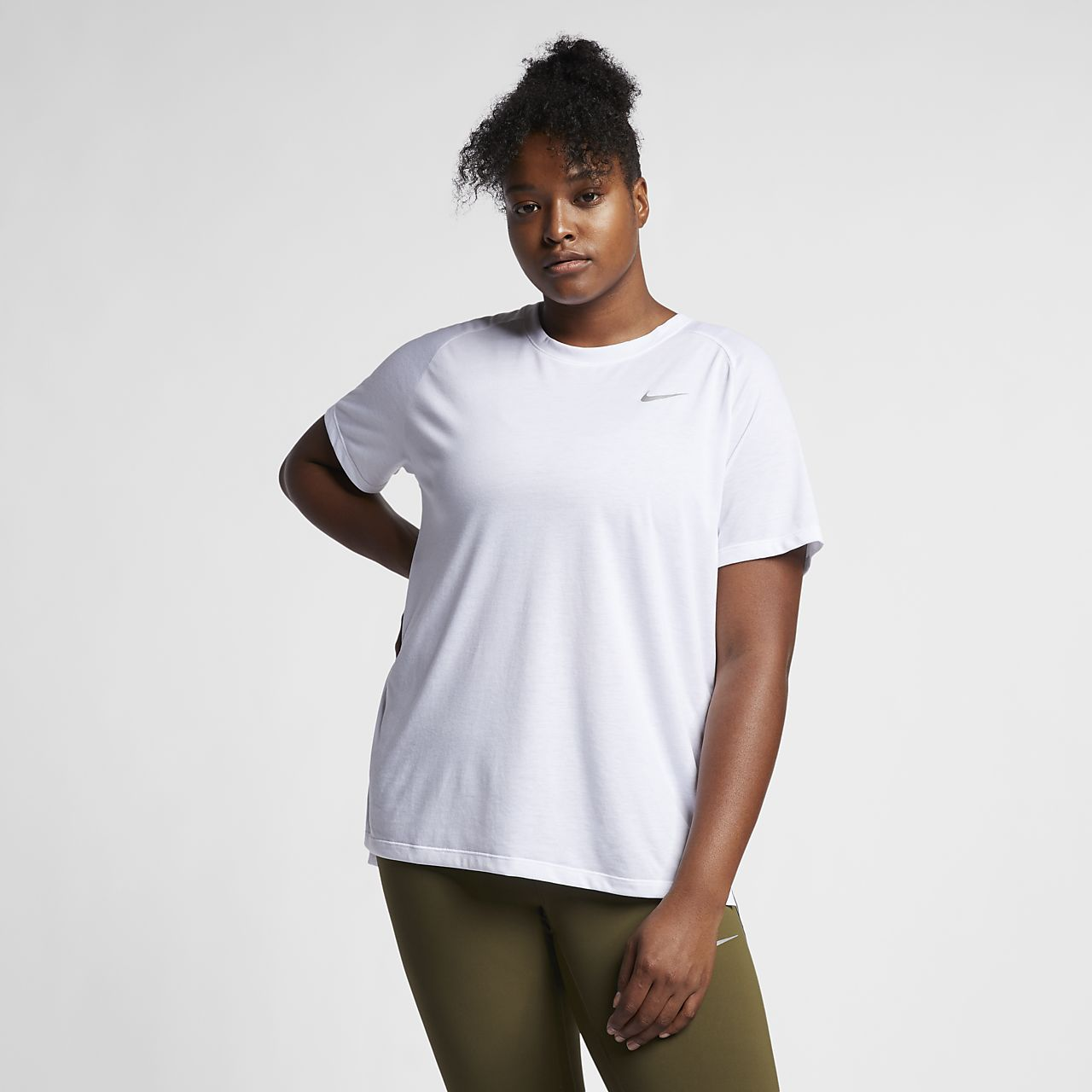 Nike Tailwind (Plus Size) Women's Short Sleeve Running Top