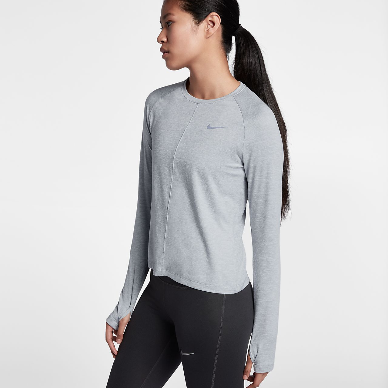 Nike Dri Fit Element Women 39 S Long Sleeve Running Top