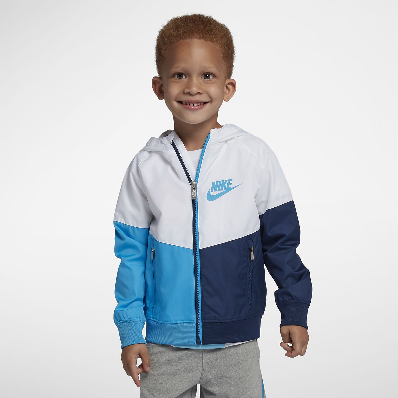 Nike Sportswear Windrunner hosszú cipzáras kabát gyerekeknek (fiúknak)