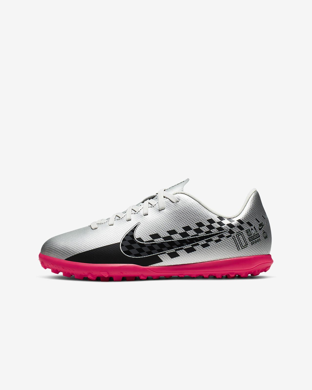 รองเท้าฟุตบอลสำหรับพื้นหญ้าเทียม Nike Jr. Mercurial Vapor 13 Club Neymar Jr. TF